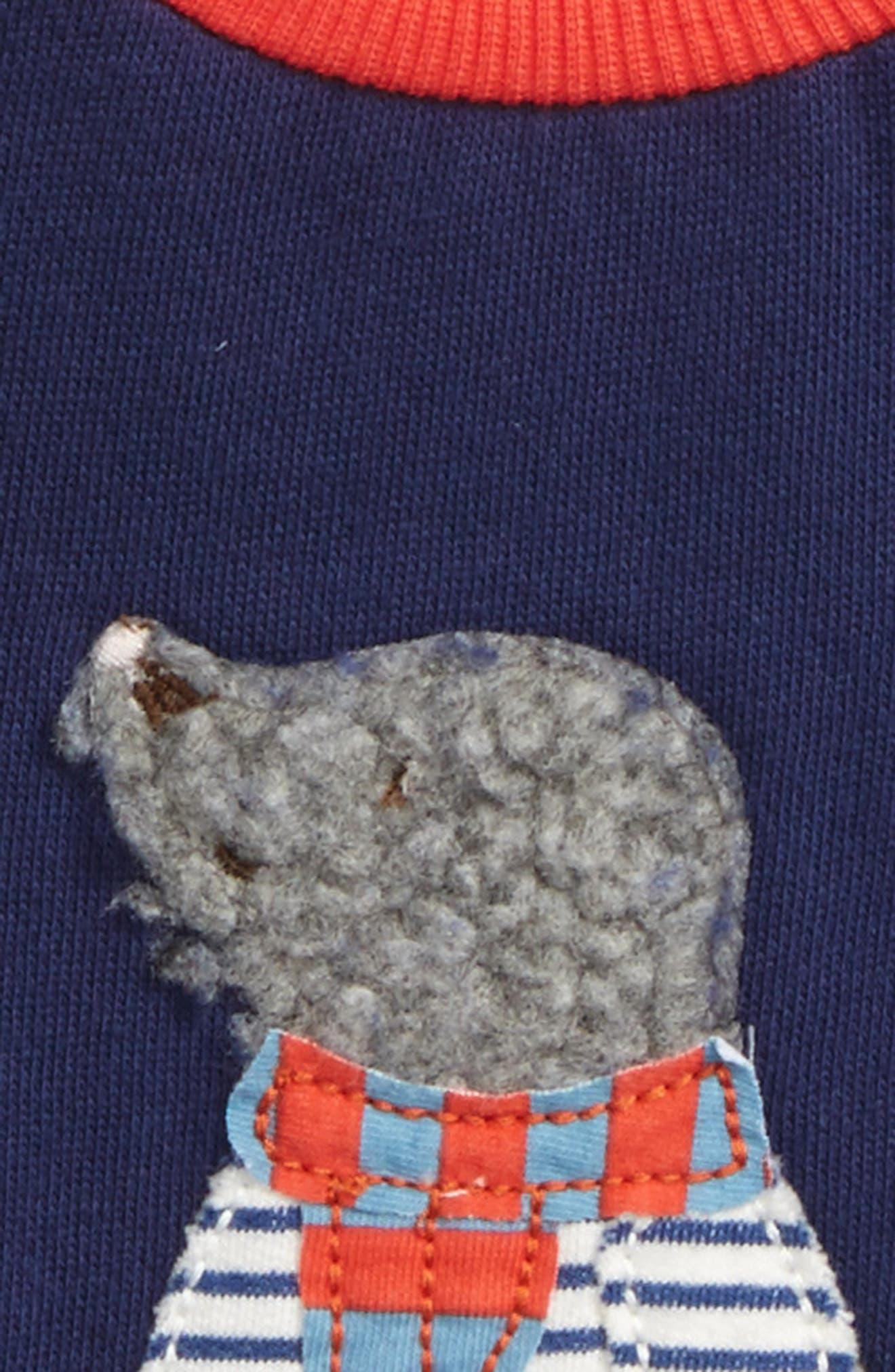 Appliqué Cozy Sweatshirt,                             Alternate thumbnail 2, color,                             Blue Beacon