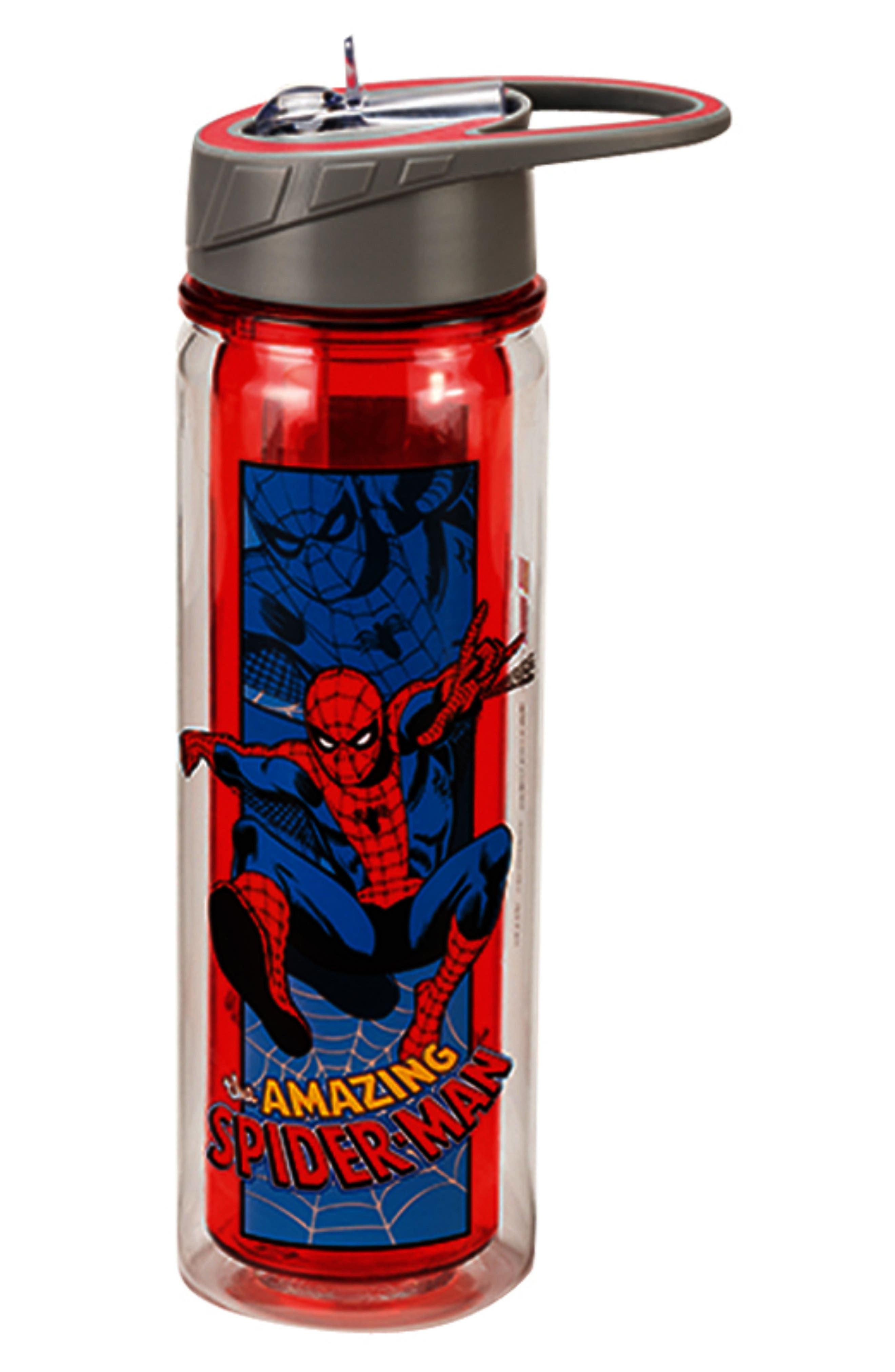 Tritan Amazing Spider-Man Water Bottle,                             Main thumbnail 1, color,                             Blue