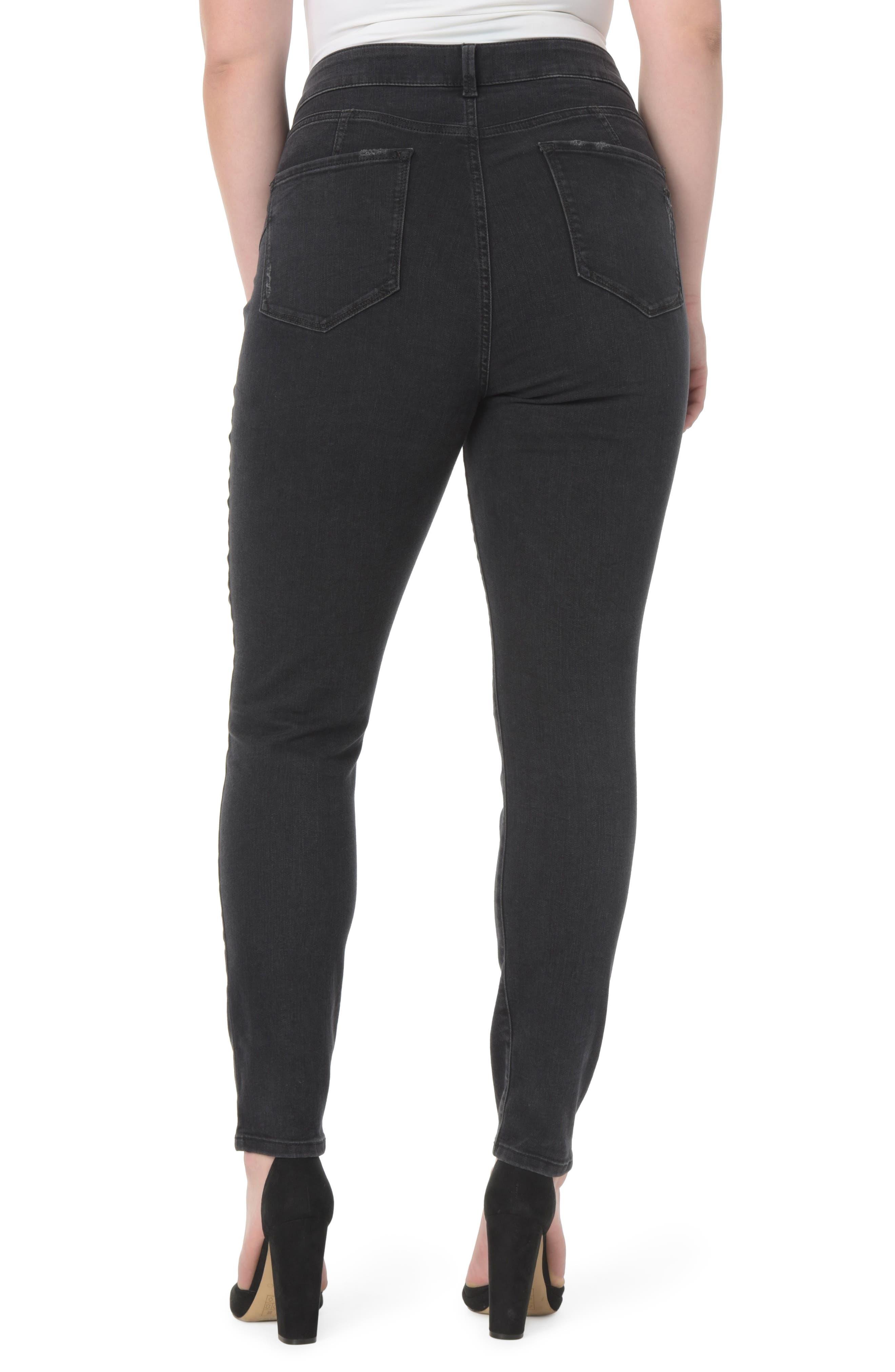 Alternate Image 2  - NYDJ Alina Uplift Stretch Skinny Jeans (Plus Size)