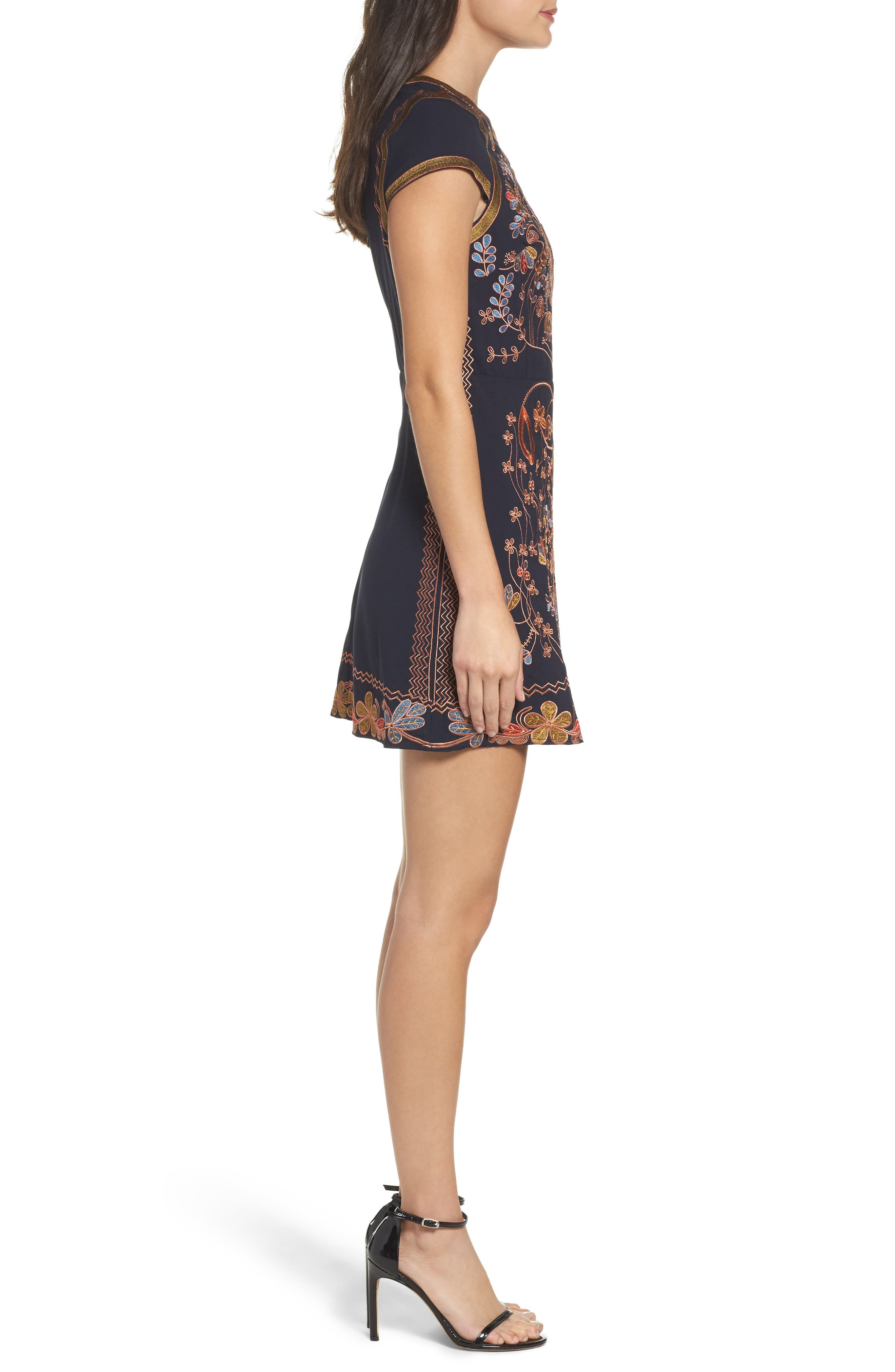 Alternate Image 3  - Foxiedox Hadiya Embroidered A-Line Dress