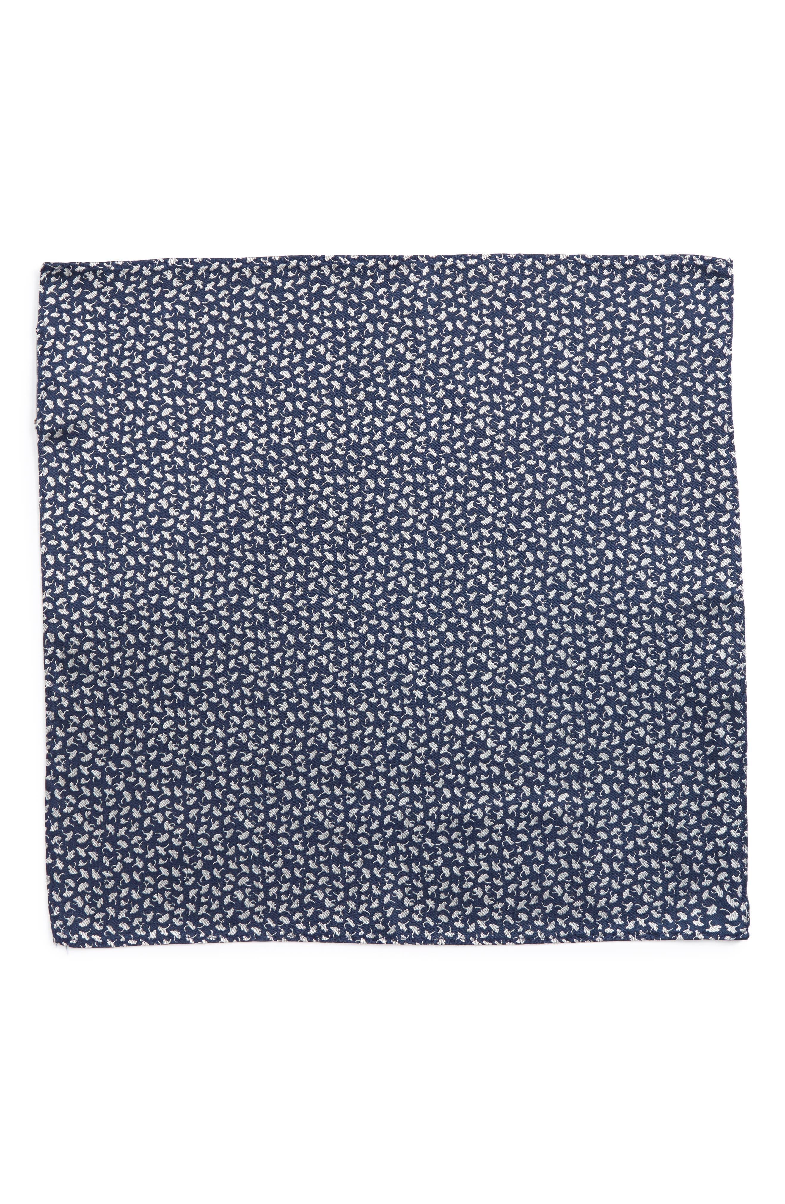 Alternate Image 2  - The Tie Bar Floral Silk Pocket Square