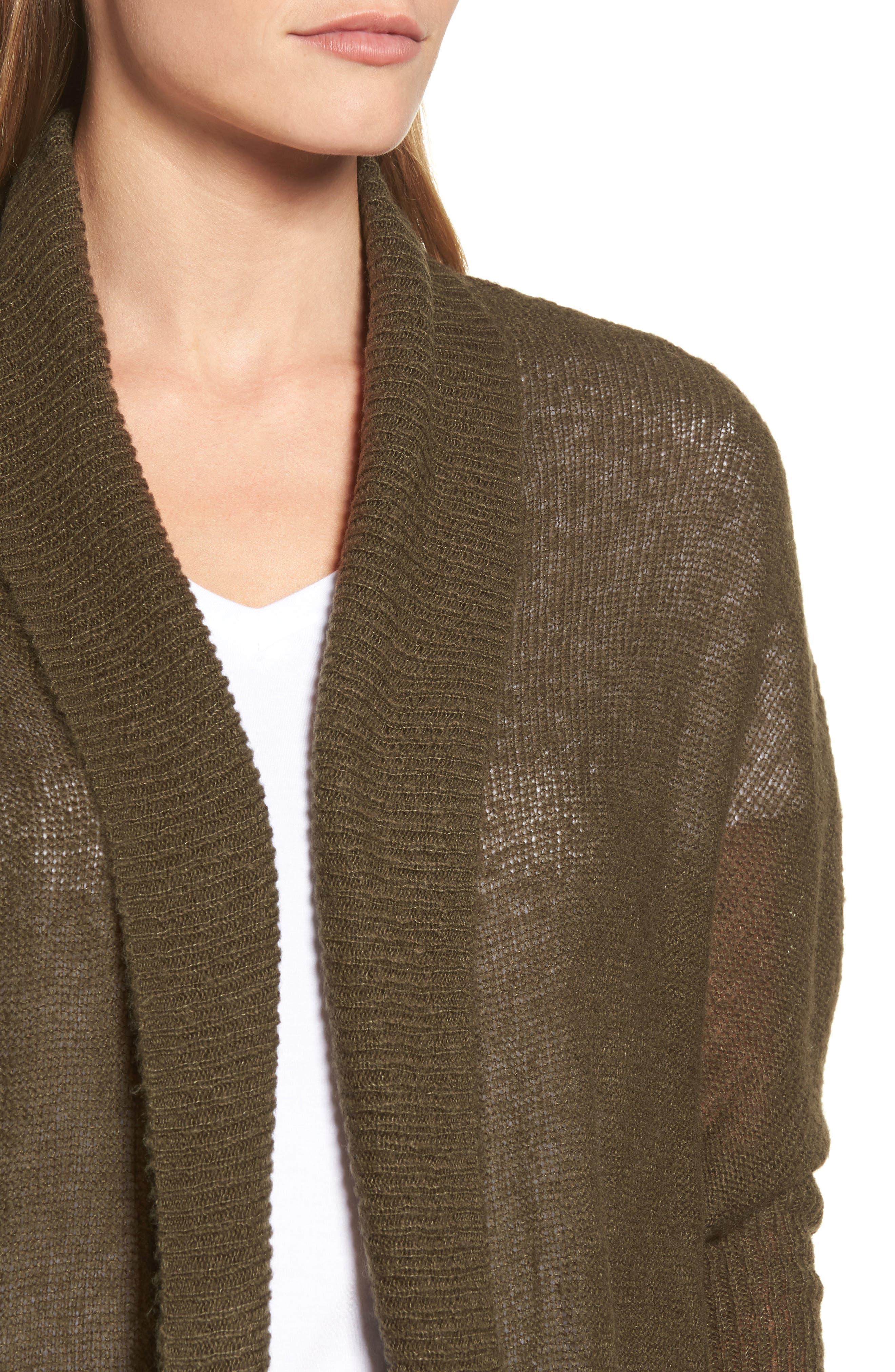 Alternate Image 4  - Press Tissue Knit Longline Cardigan