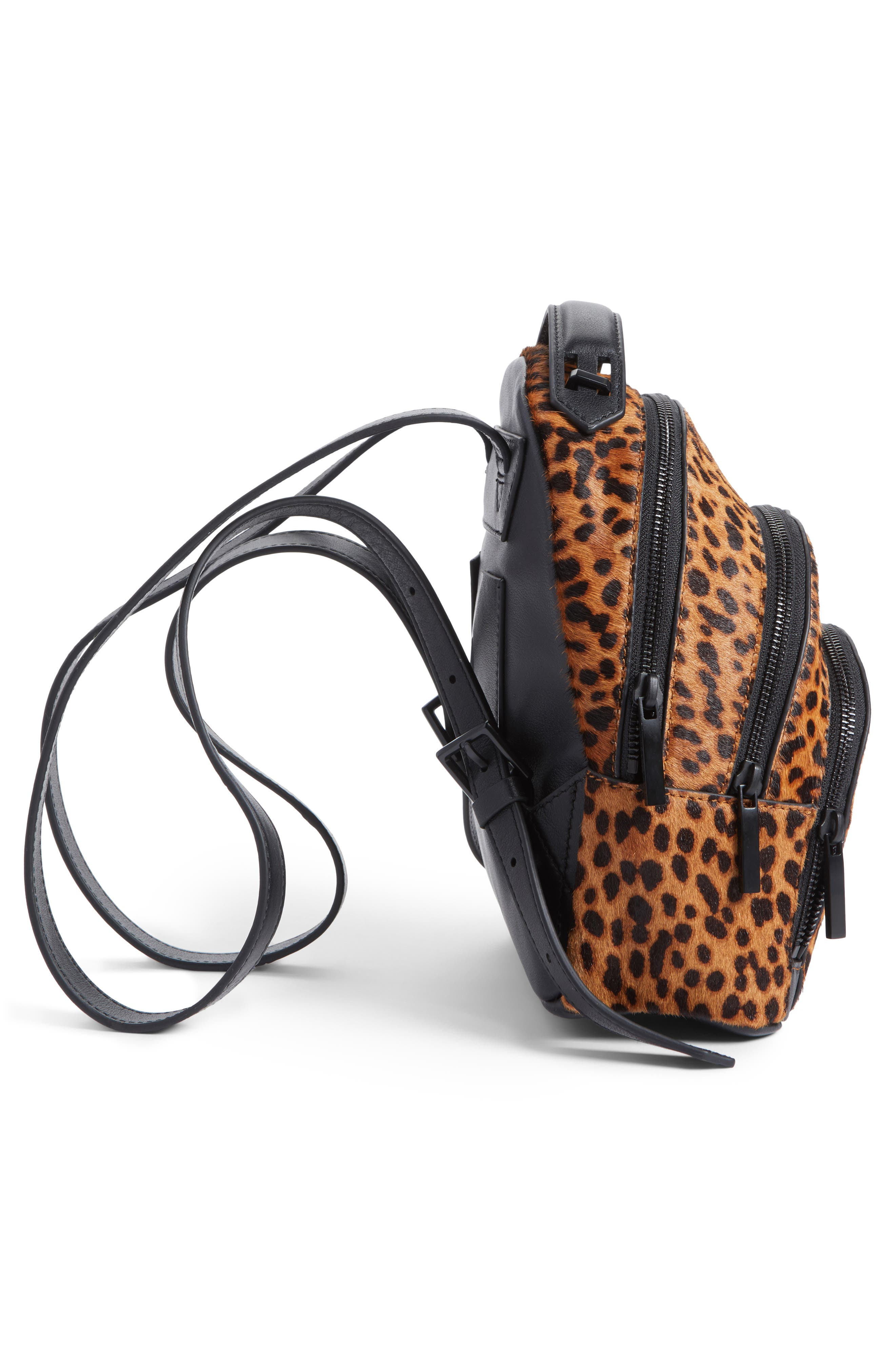 Alternate Image 5  - KENDALL + KYLIE Mini Sloane Genuine Calf Hair & Leather Backpack