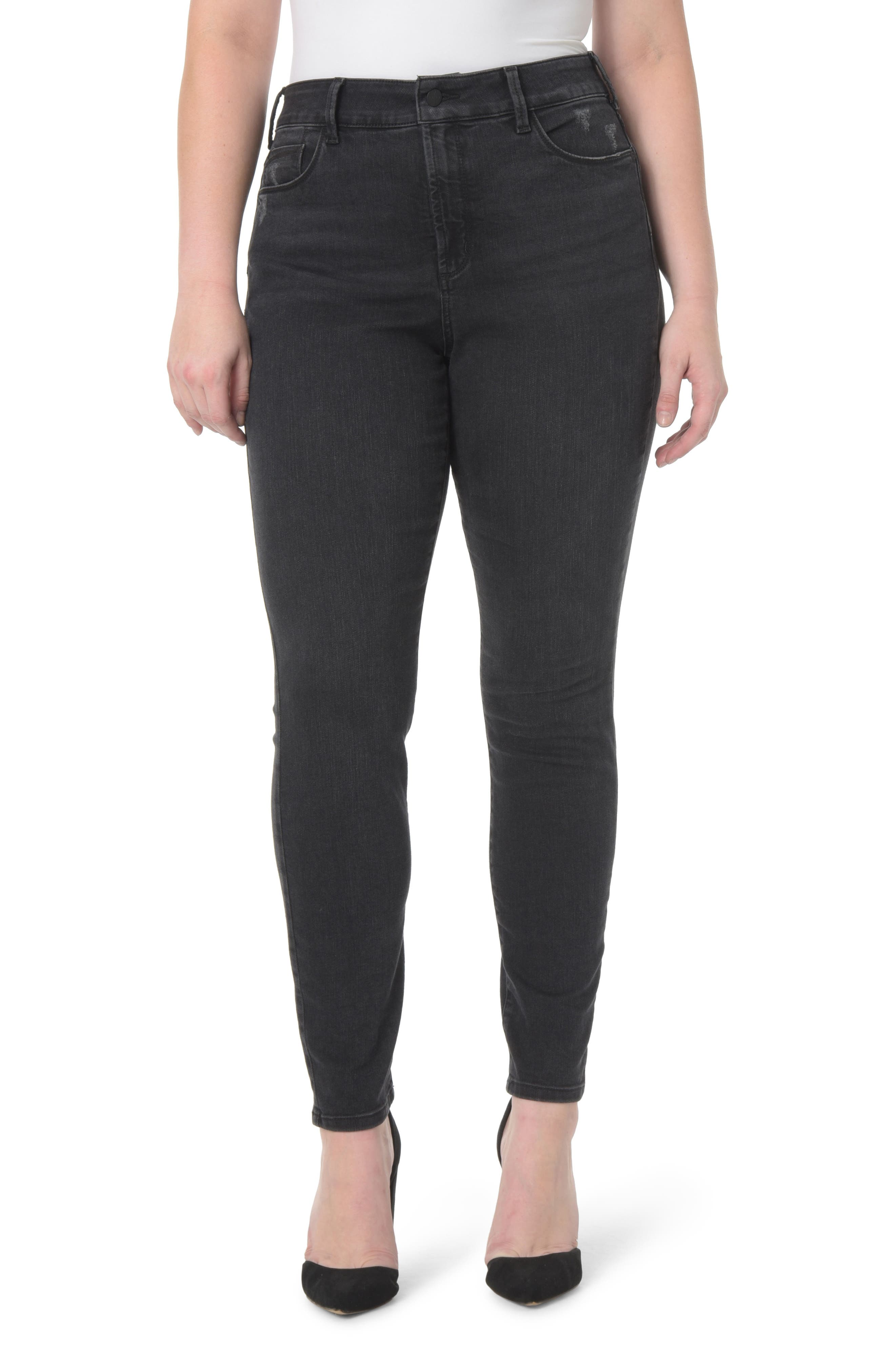 Alternate Image 1 Selected - NYDJ Alina Uplift Stretch Skinny Jeans (Plus Size)