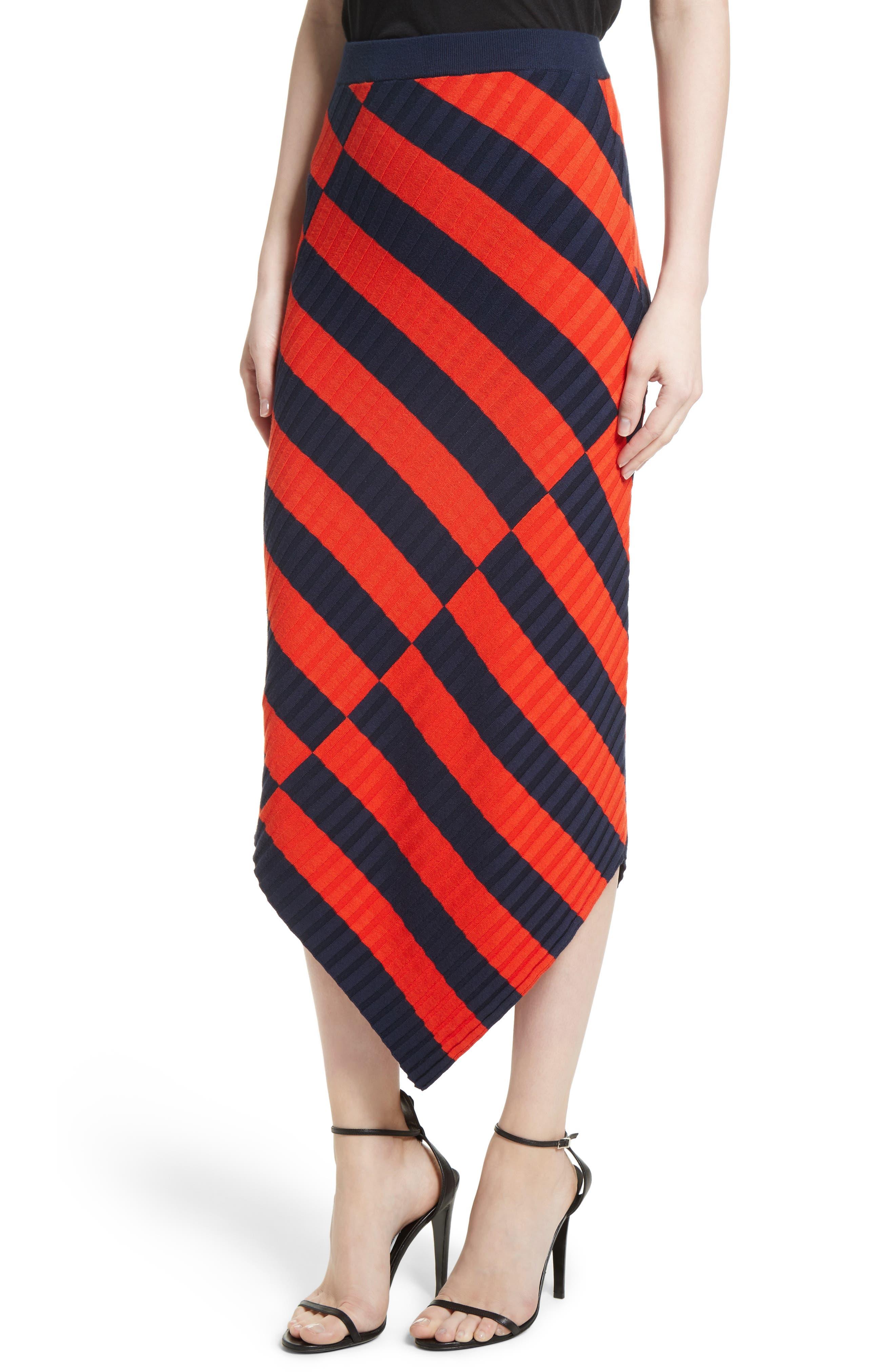 Alternate Image 4  - Altuzarra Asymmetrical Stripe Midi Skirt