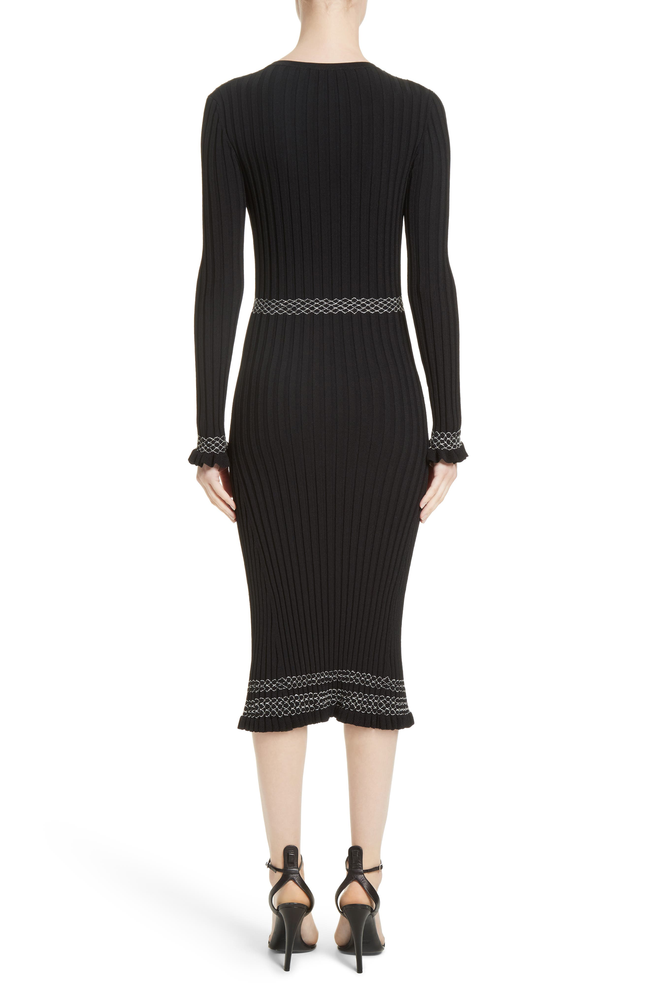 Alternate Image 2  - Altuzarra Ruffle Hem Knit Dress