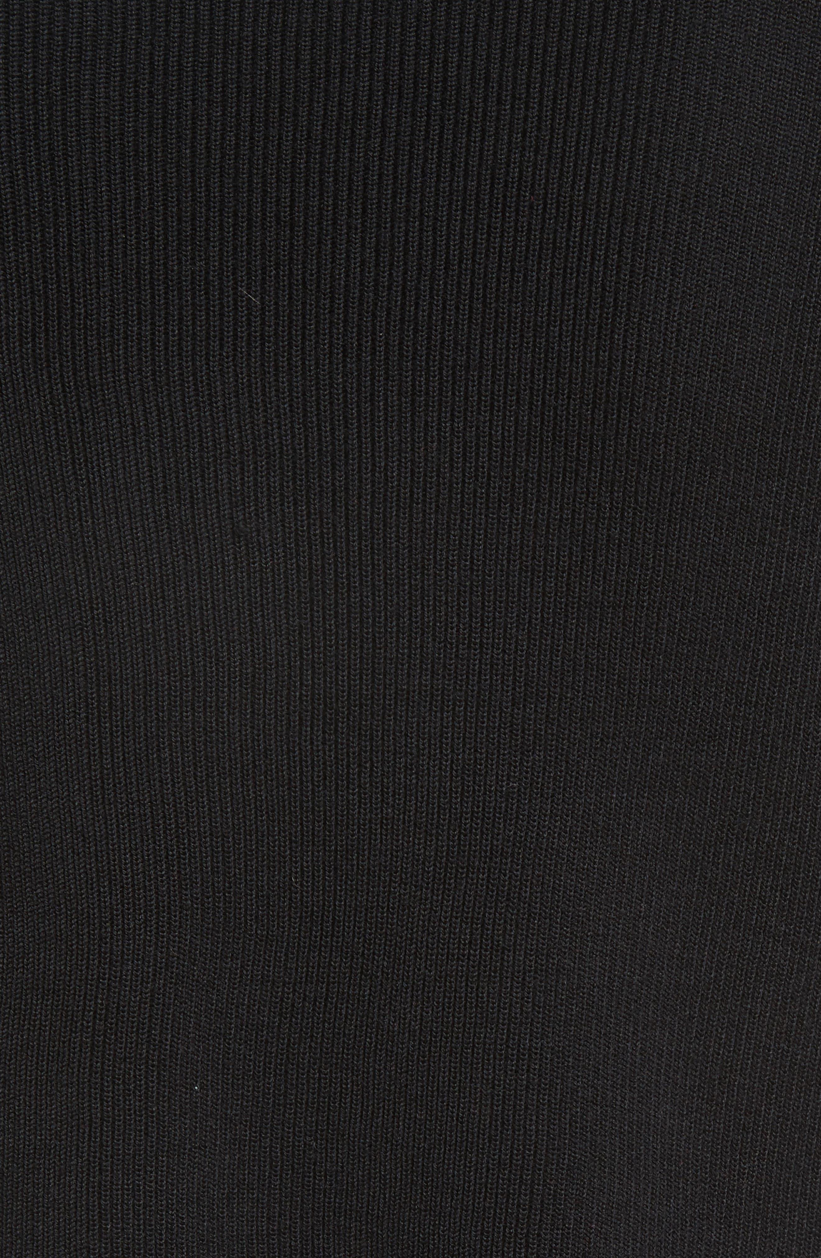 Sharkbite Hem Sweater,                             Alternate thumbnail 8, color,                             Black