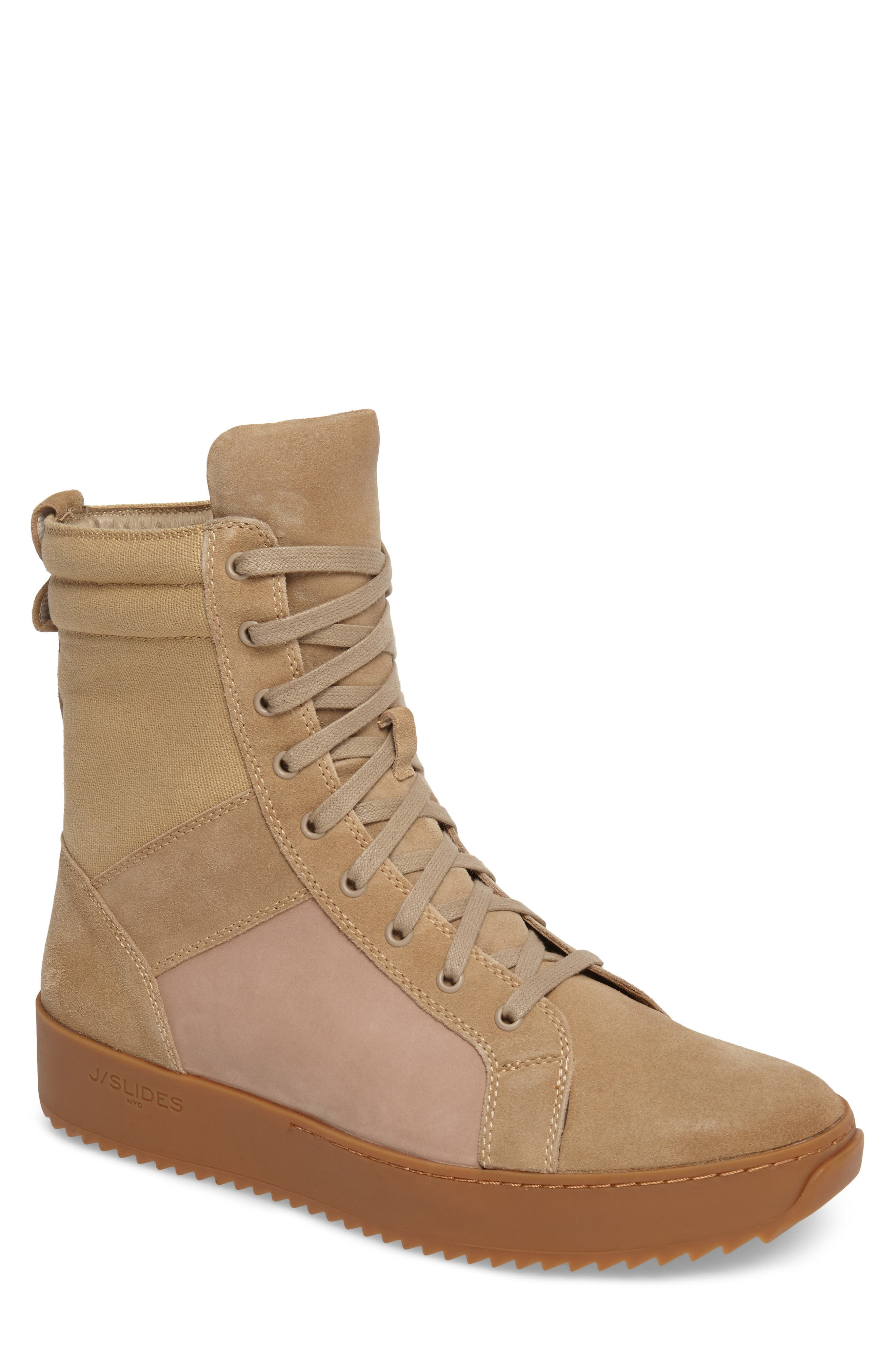 Shane Sneaker,                         Main,                         color, Sand Suede