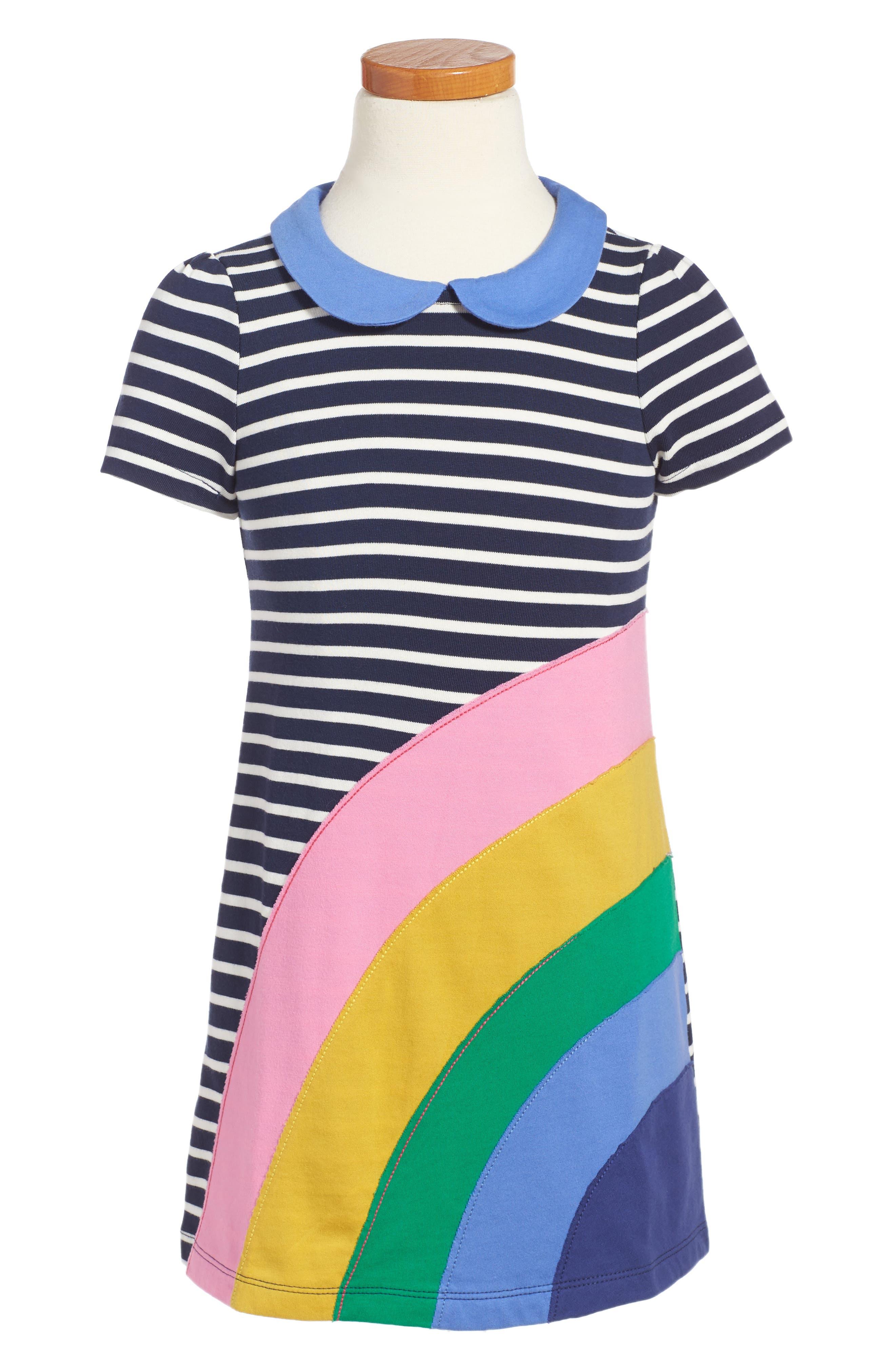 Mini Boden Fun Appliqué Jersey Dress (Toddler Girls, Little Girls & Big Girls)