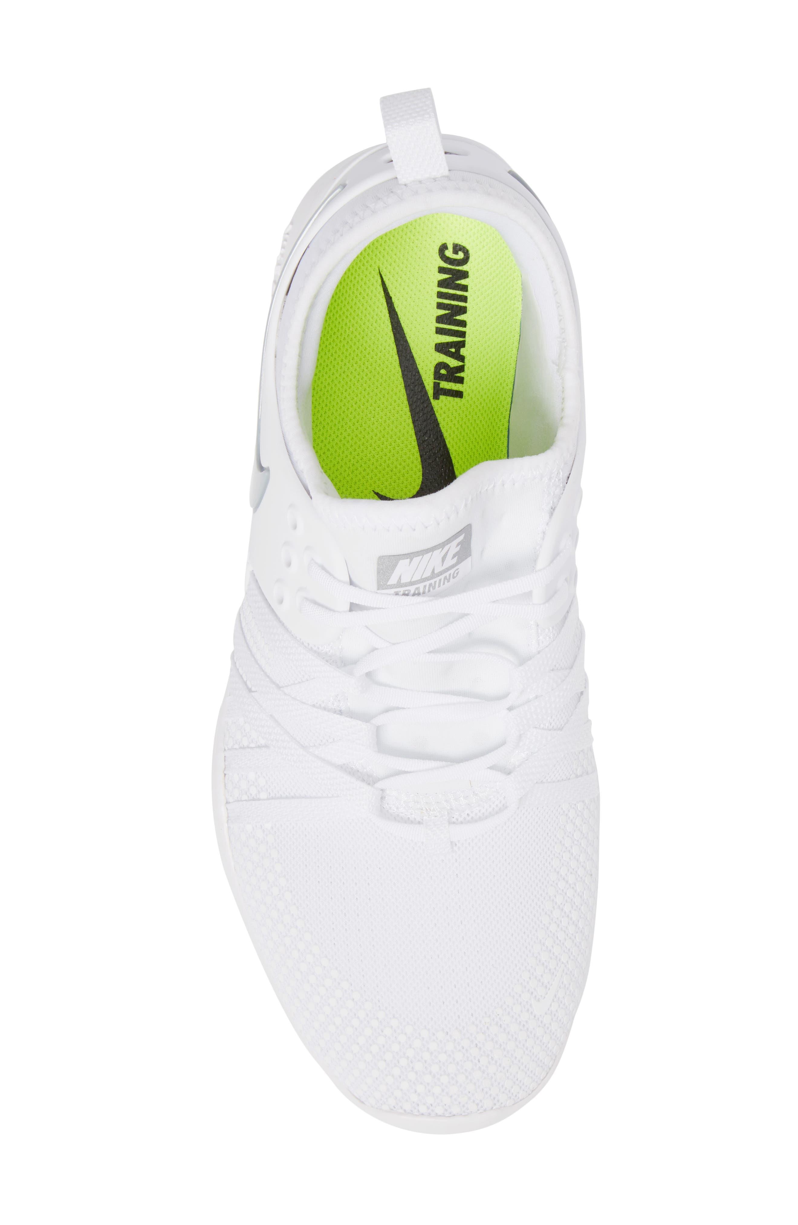 Free TR 7 Training Shoe,                             Alternate thumbnail 5, color,                             White/ Metallic Silver