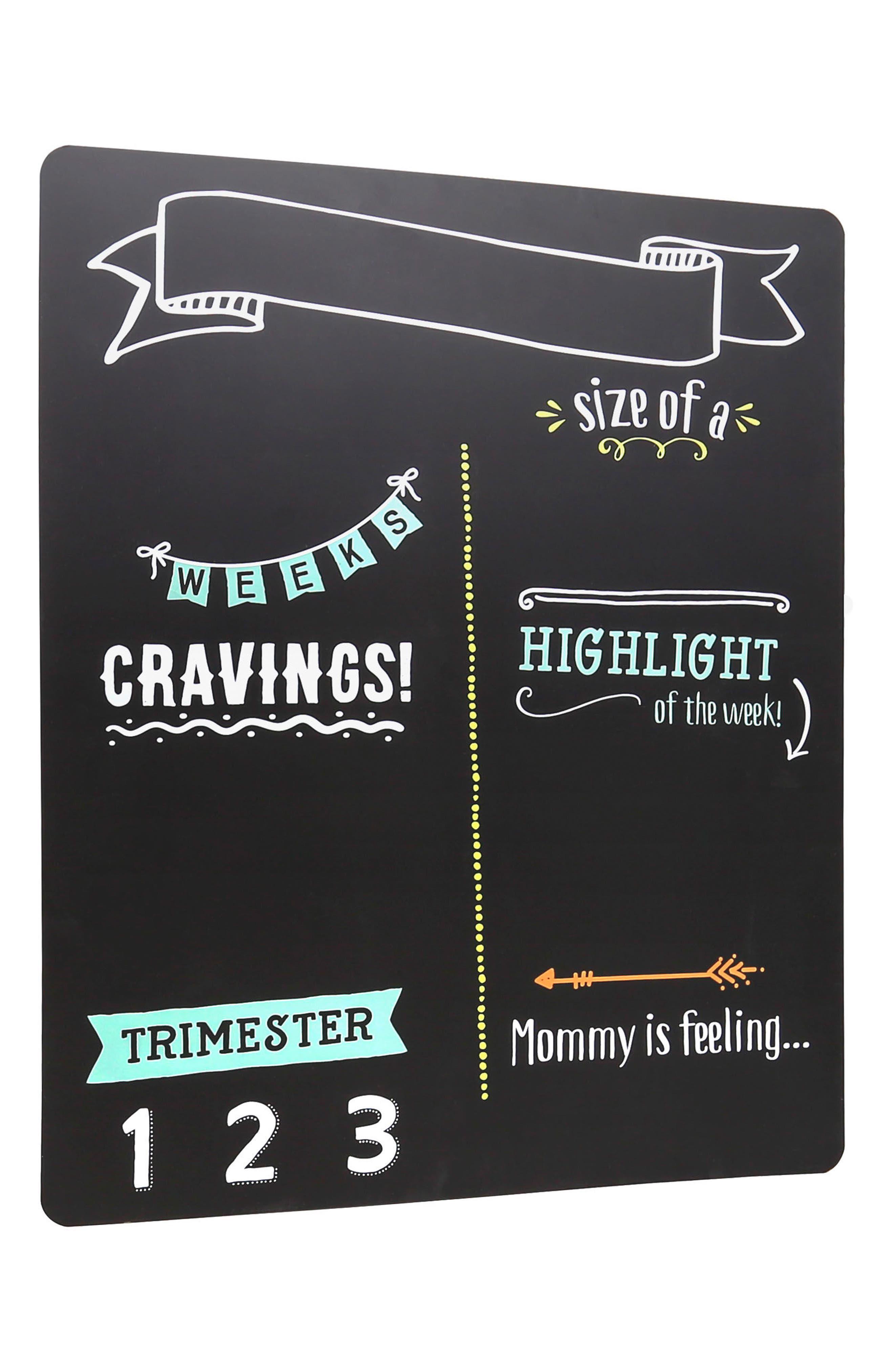 Pregnancy Chalkboard,                             Main thumbnail 1, color,                             Black