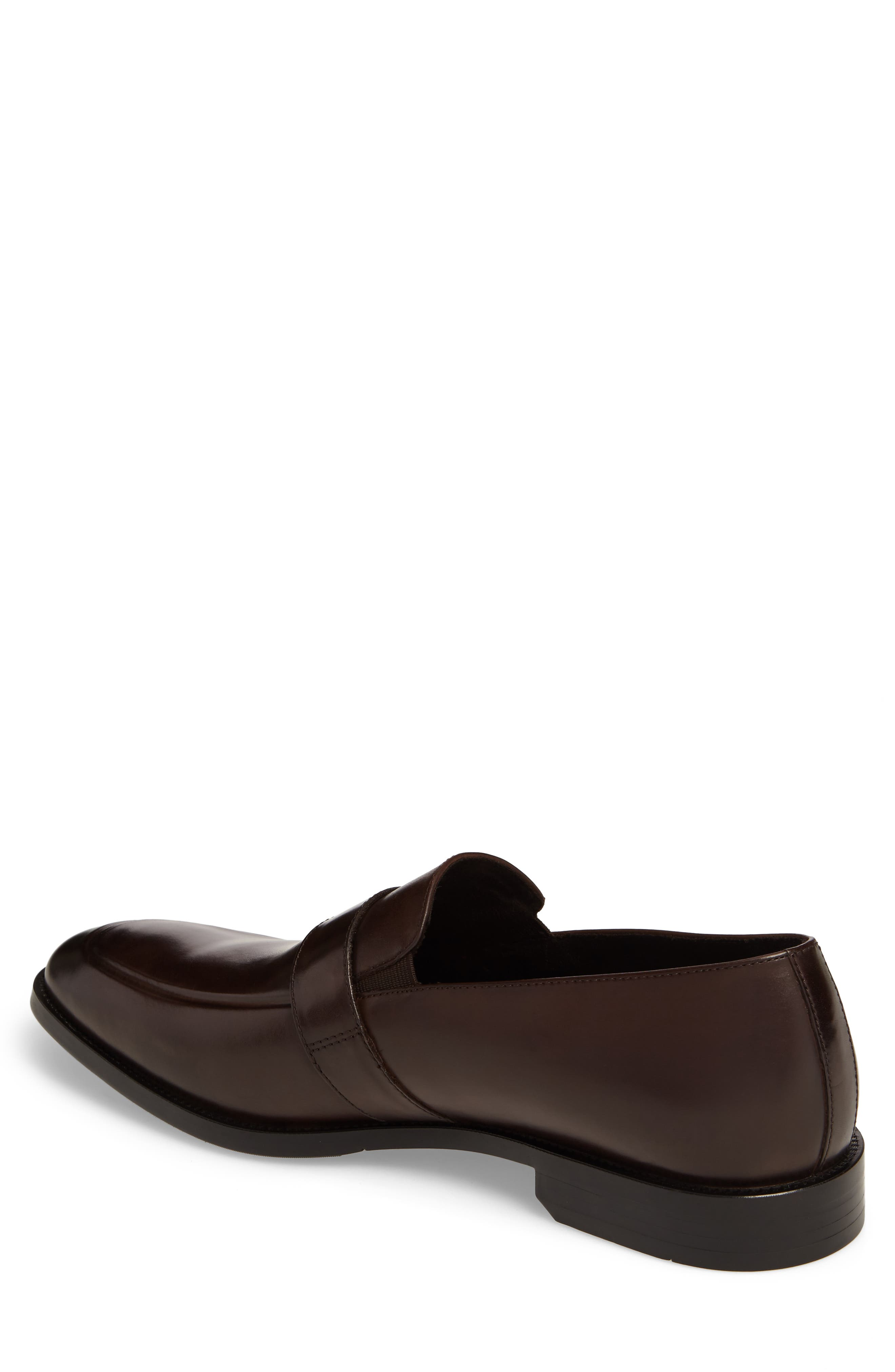 Apron Toe Loafer,                             Alternate thumbnail 2, color,                             Brown Leather