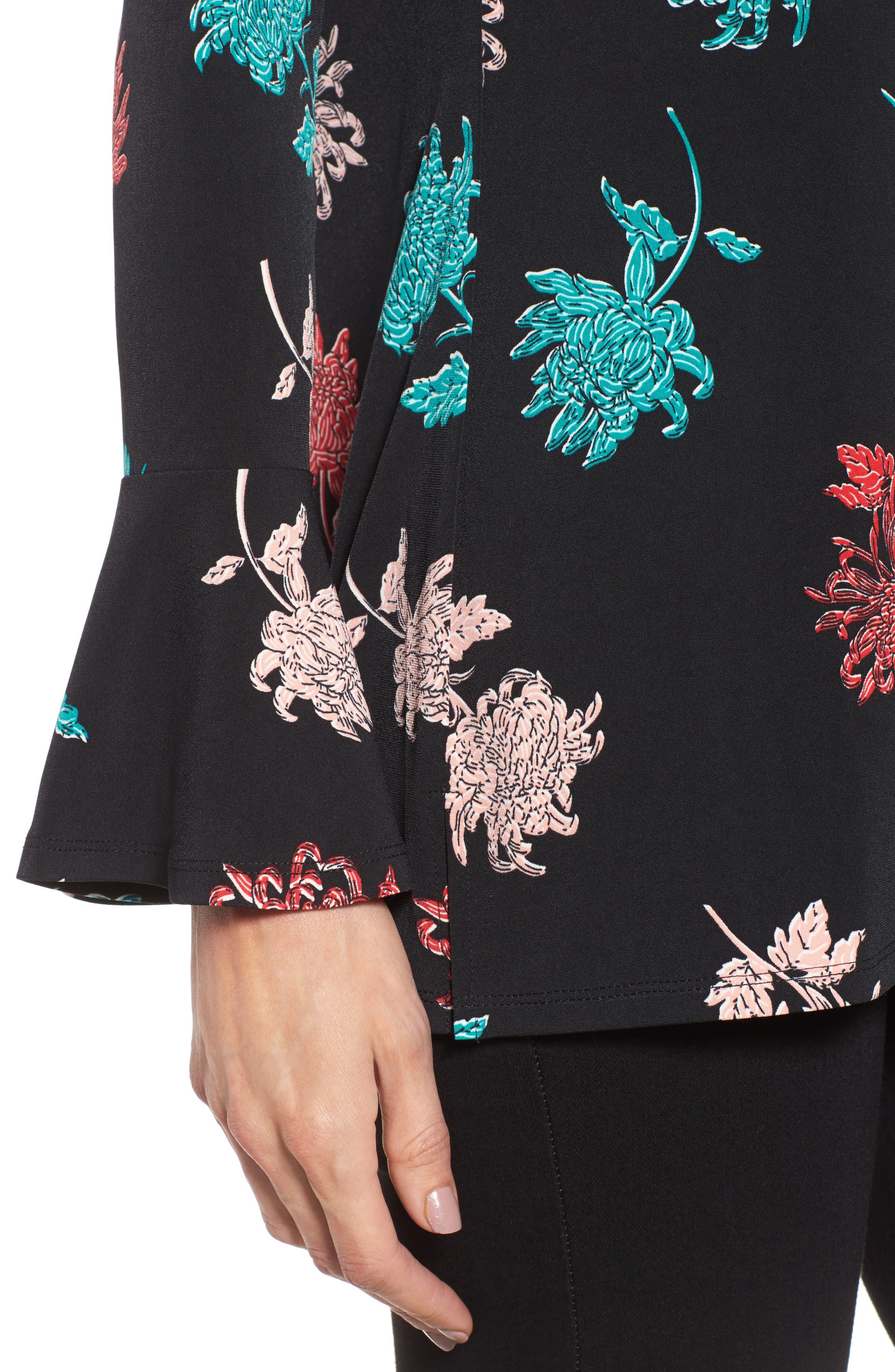 Alternate Image 4  - Chaus Bell Sleeve Imperial Bloom Top