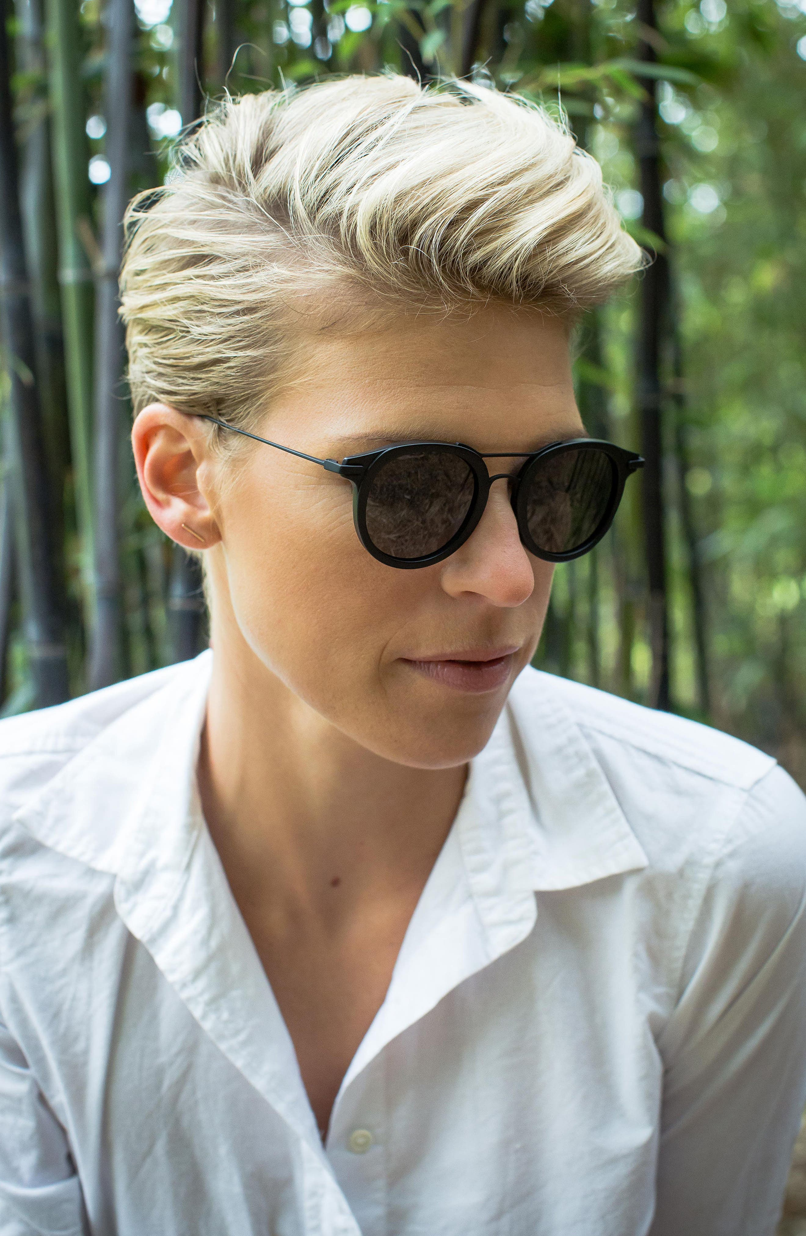 Taft 46mm Polarized Round Sunglasses,                             Alternate thumbnail 5, color,