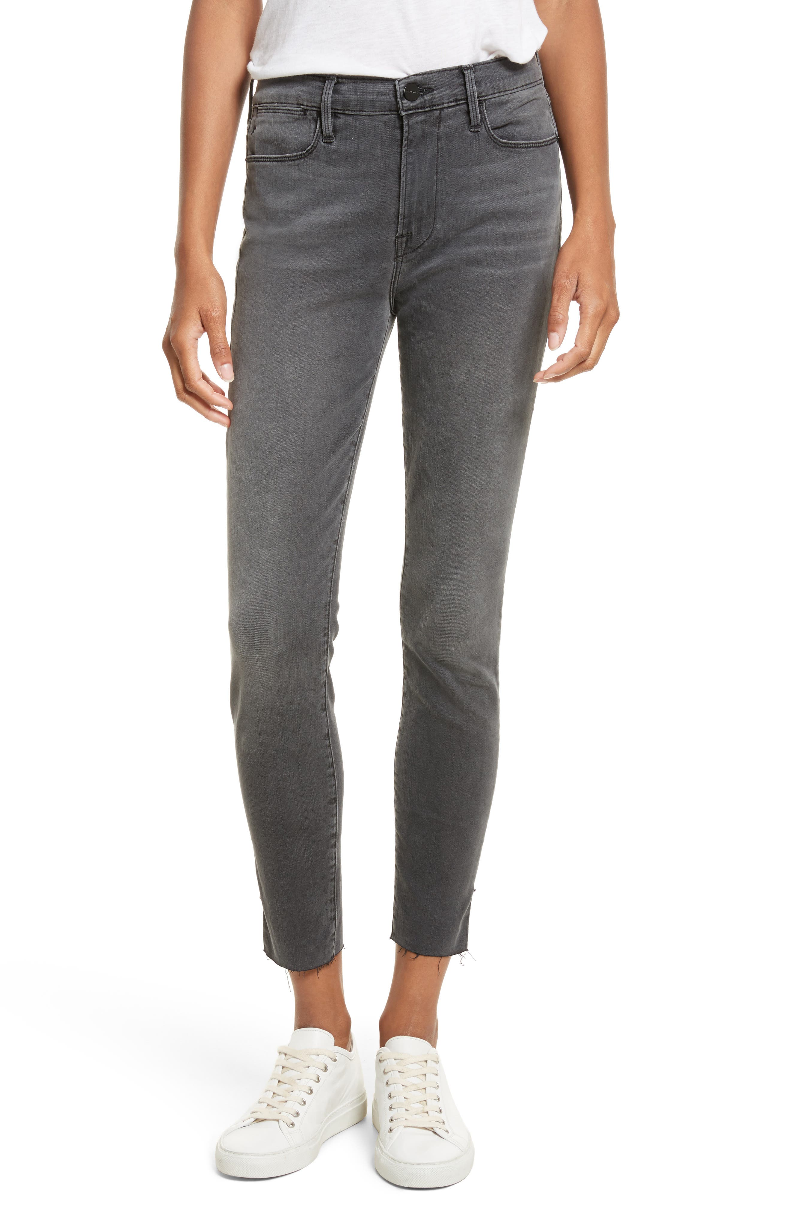 FRAME Le High Ankle Skinny Jeans (Dartmouth Exclusive)
