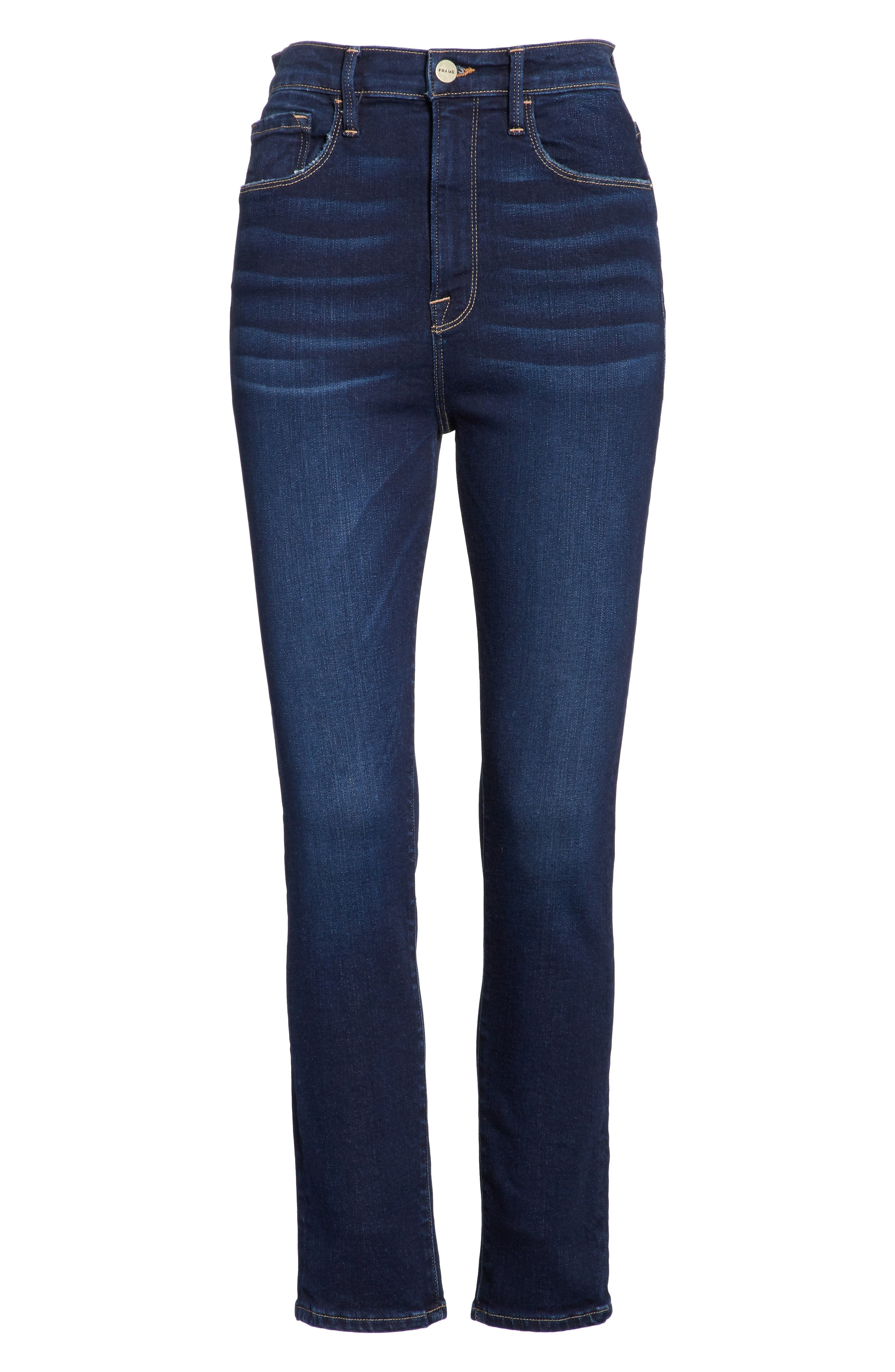 Ali High Waist Ankle Skinny Jeans,                             Alternate thumbnail 6, color,                             Cabana Exclusive