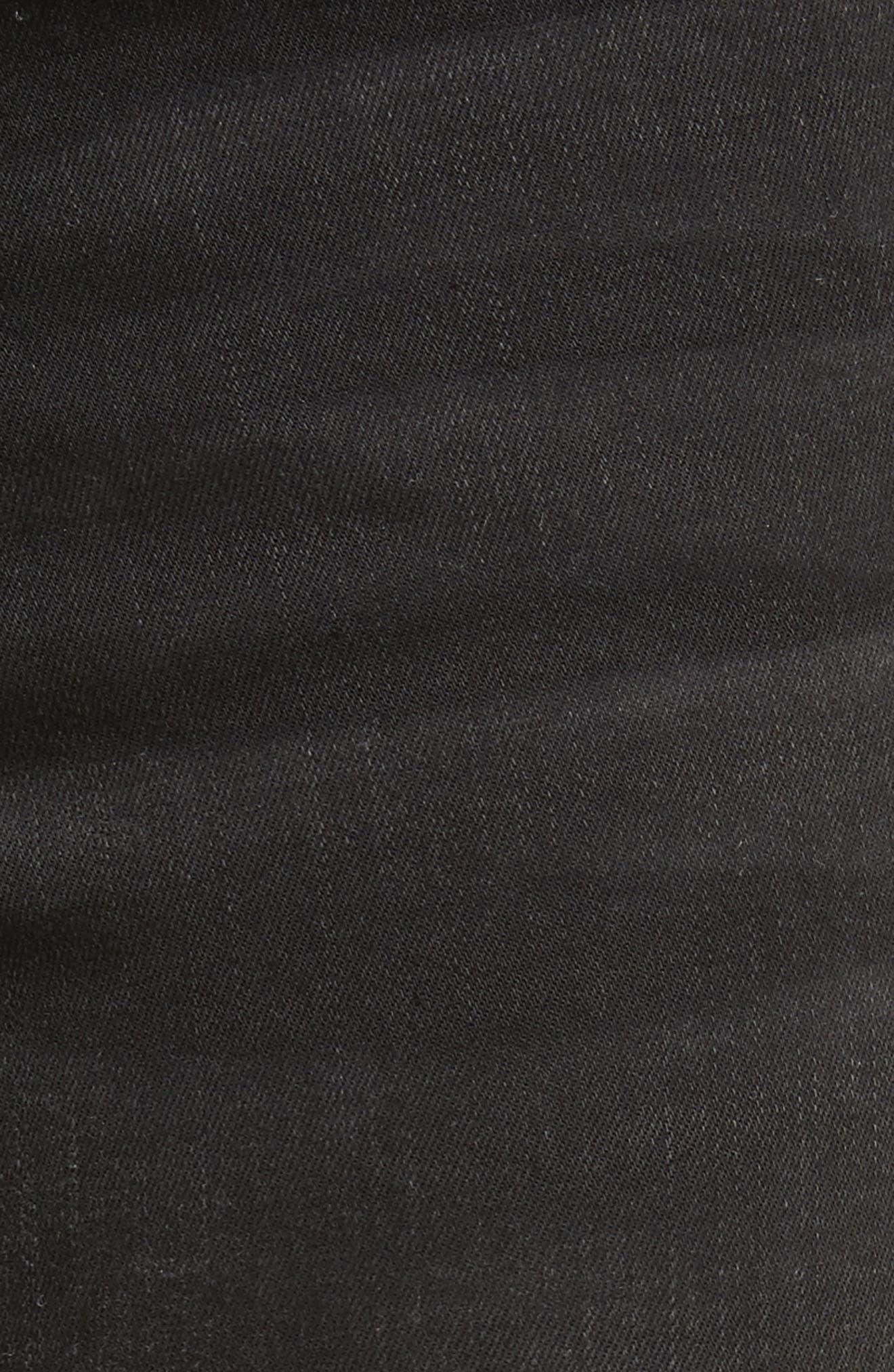 Le Skinny de Jeanne Raw Edge Skinny Jeans,                             Alternate thumbnail 5, color,                             Oxshott