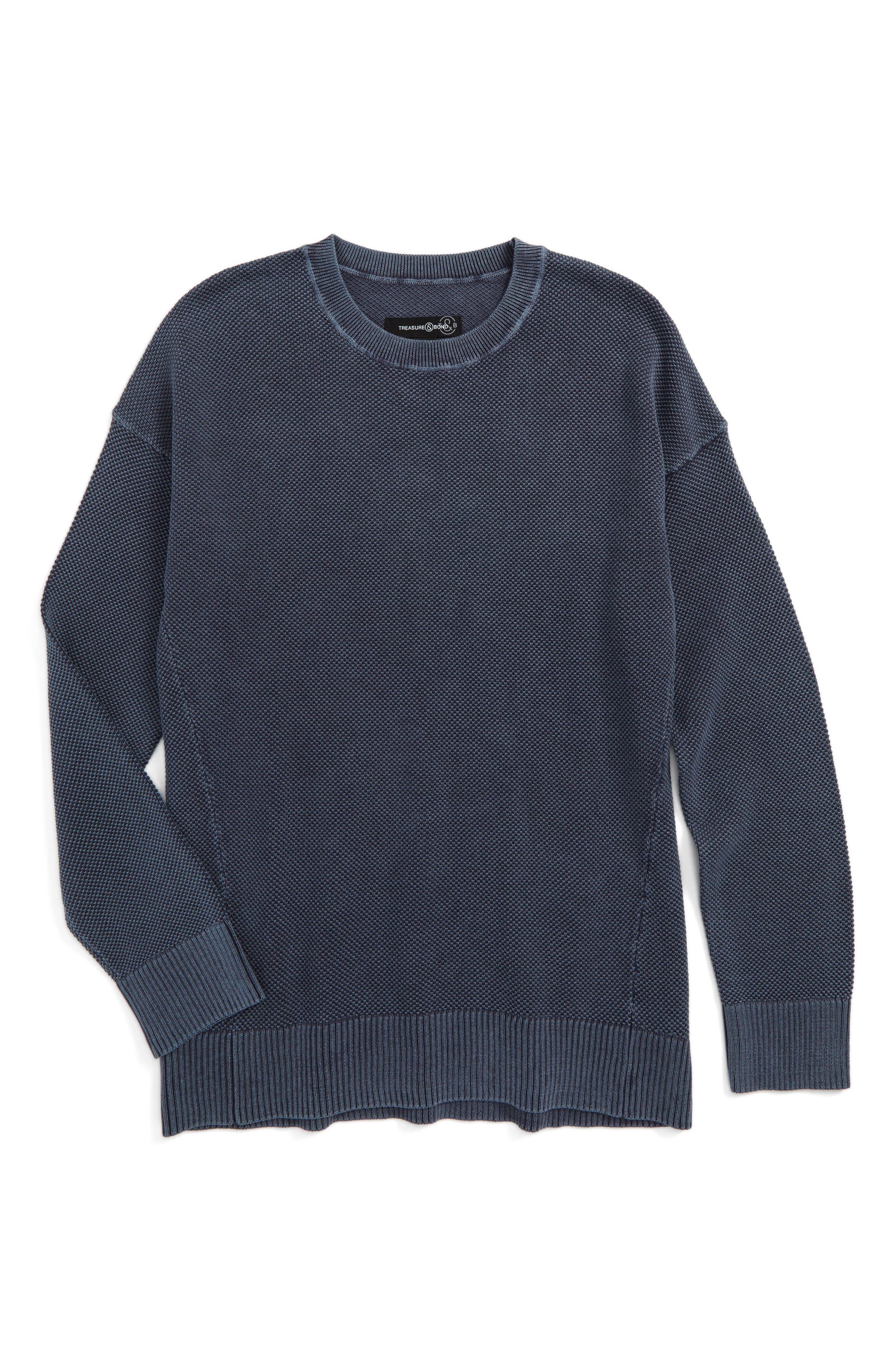 Alternate Image 1 Selected - Treasure & Bond Waffle Knit Sweater (Big Boys)
