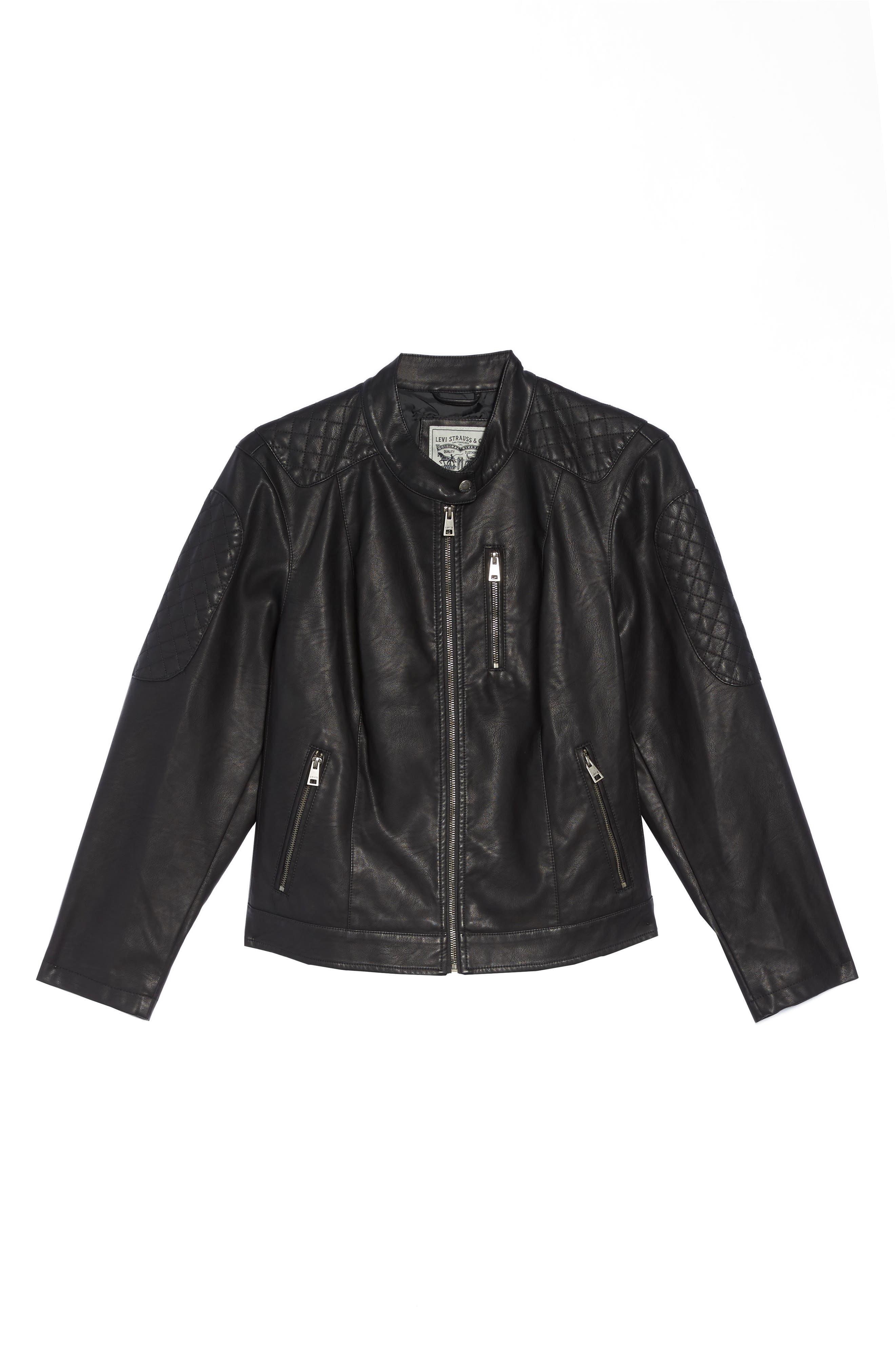 Alternate Image 6  - LEVIS® Faux Leather Moto Jacket