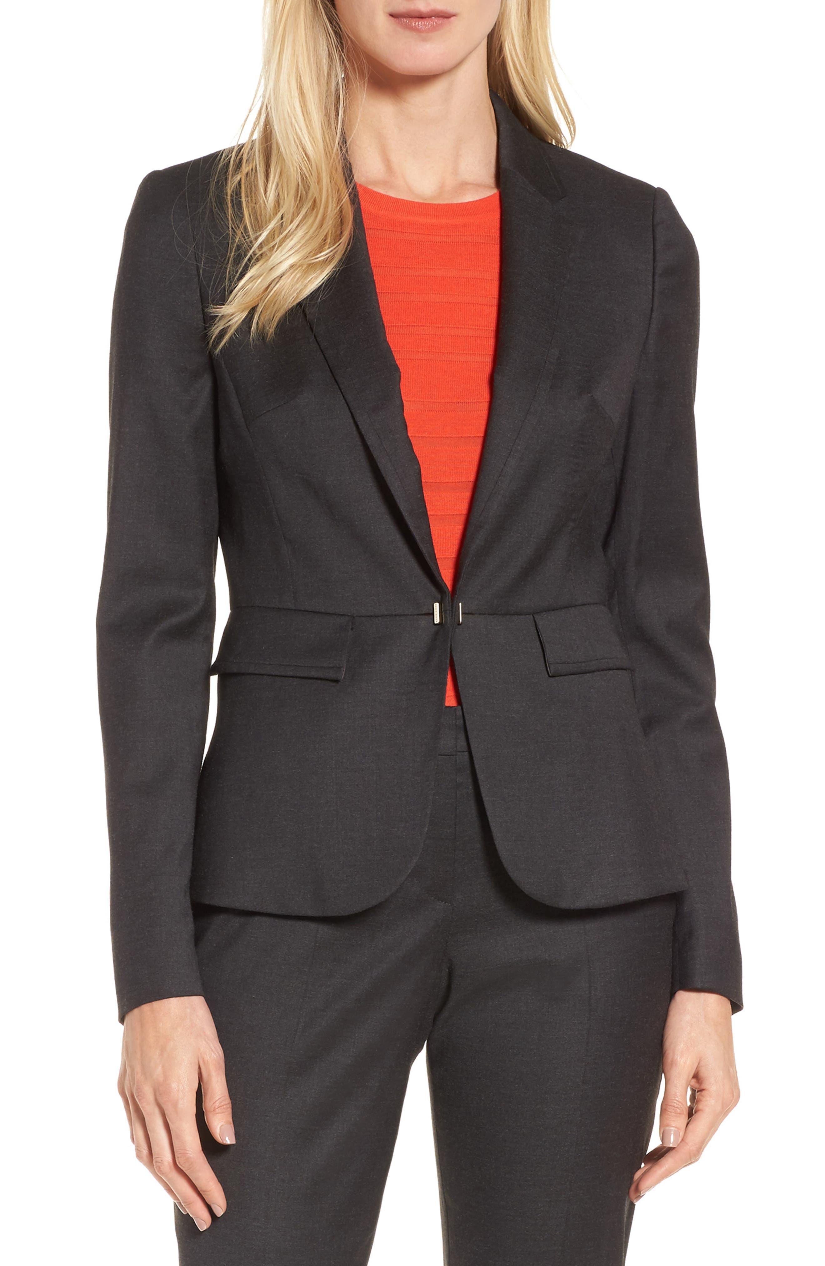 BOSS Jafilia Wool Blend Suit Jacket