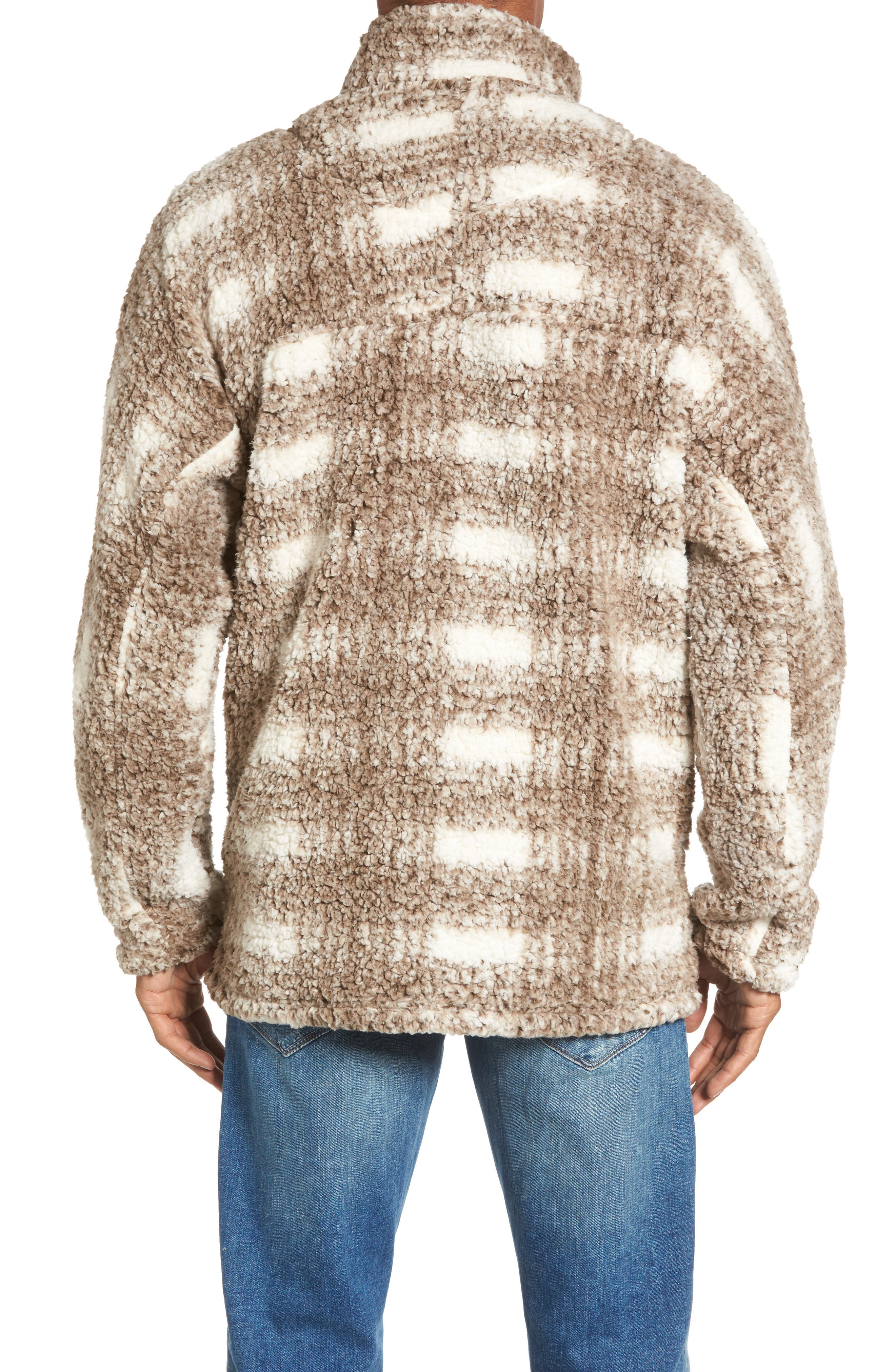 Alternate Image 2  - True Grit Big Plaid Frosty Tipped Faux Fur Pullover