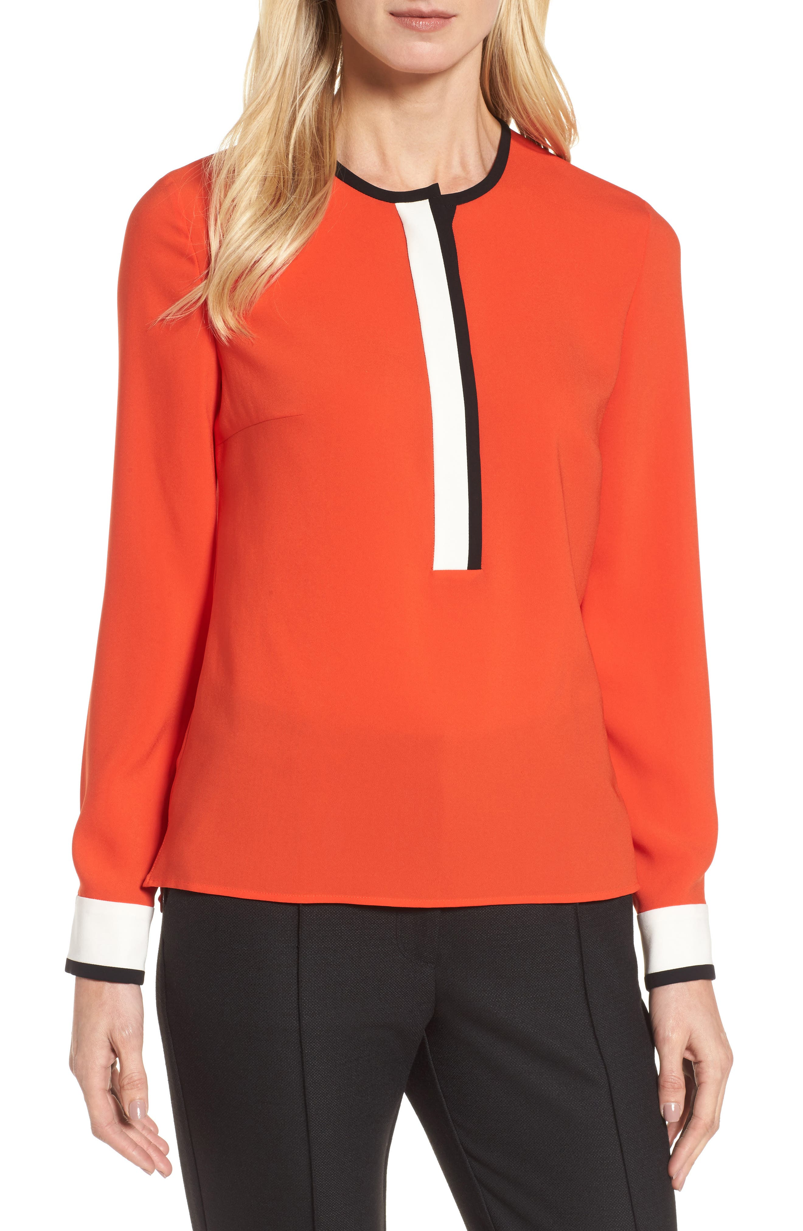 Alternate Image 1 Selected - BOSS Isolani Colorblock Top