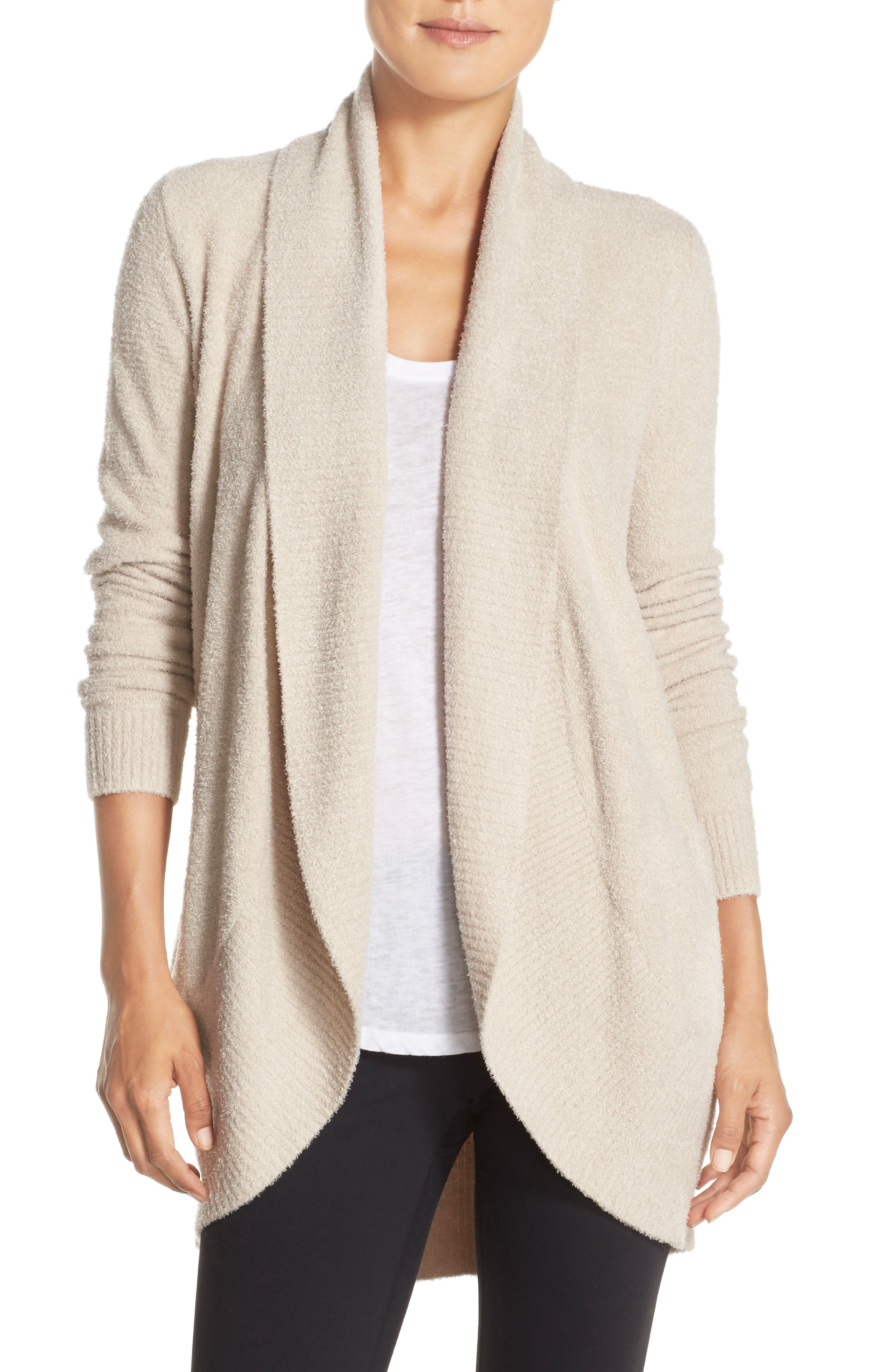 Main Image - Barefoot Dreams® CozyChic Lite® Circle Cardigan