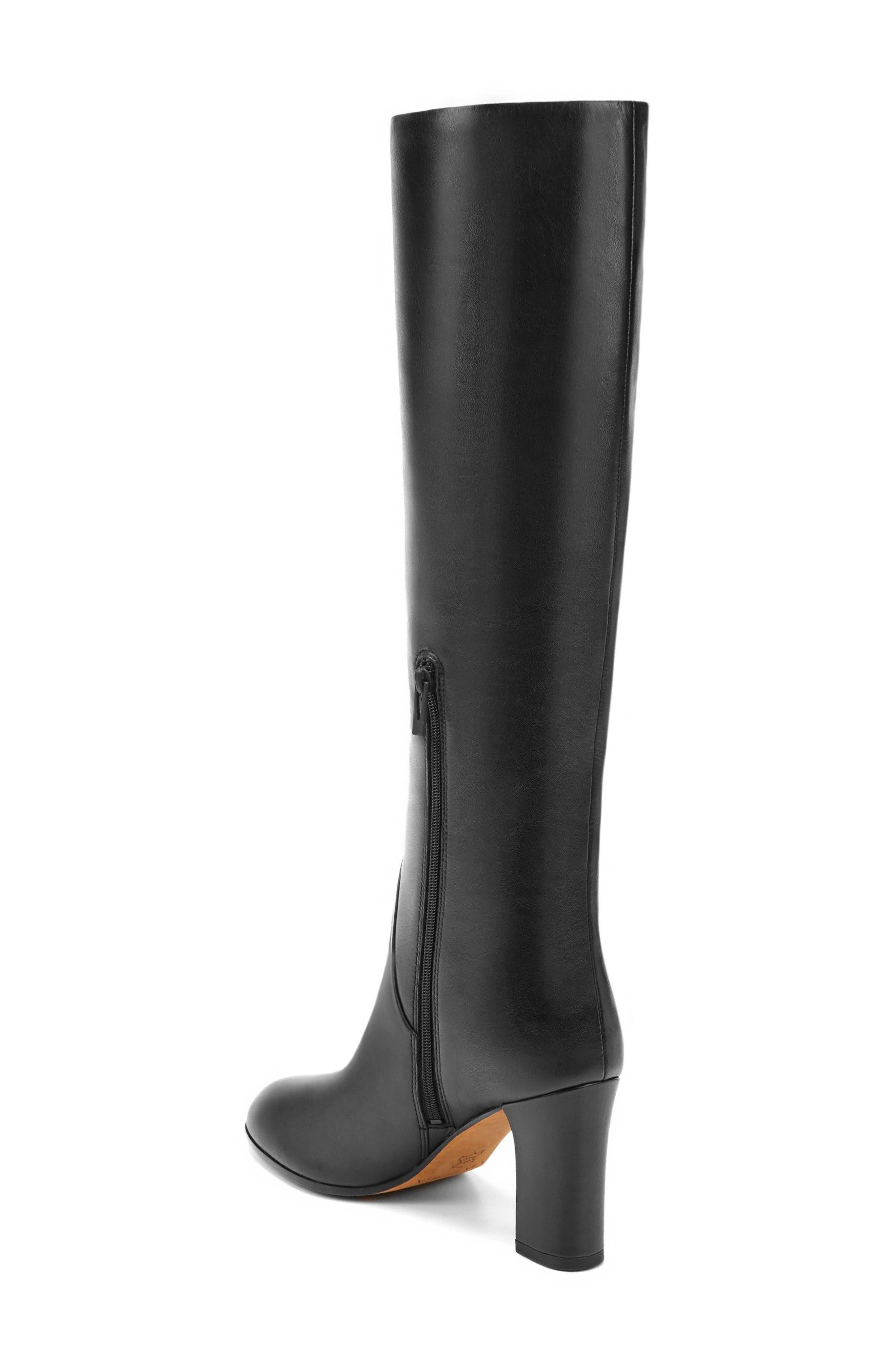 Soho Knee High Boot,                             Alternate thumbnail 2, color,                             Onyx Leather