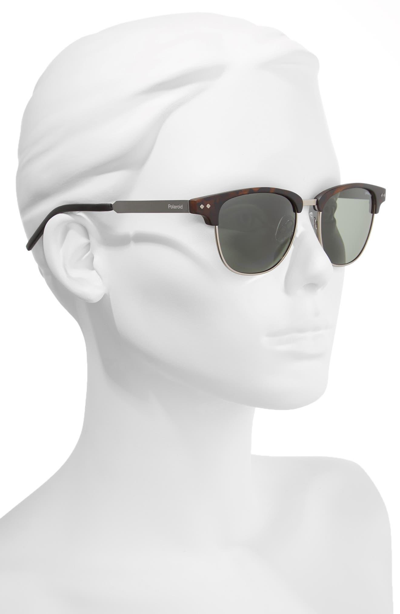 51mm Polarized Cat Eye Sunglasses,                             Alternate thumbnail 2, color,                             Matte Havana