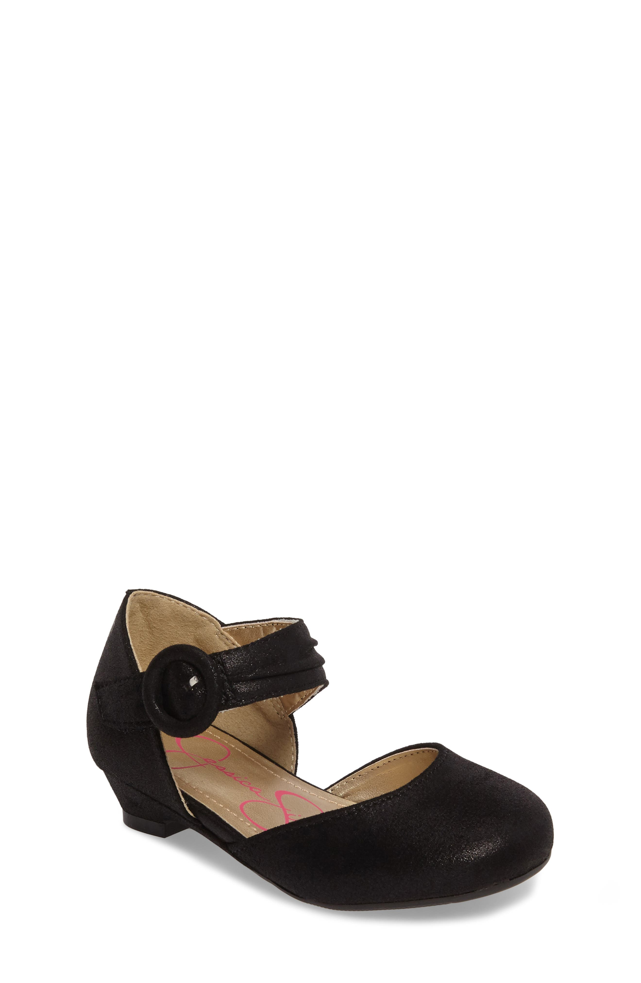 Tiana Shimmery Pump,                             Main thumbnail 1, color,                             Black Suede