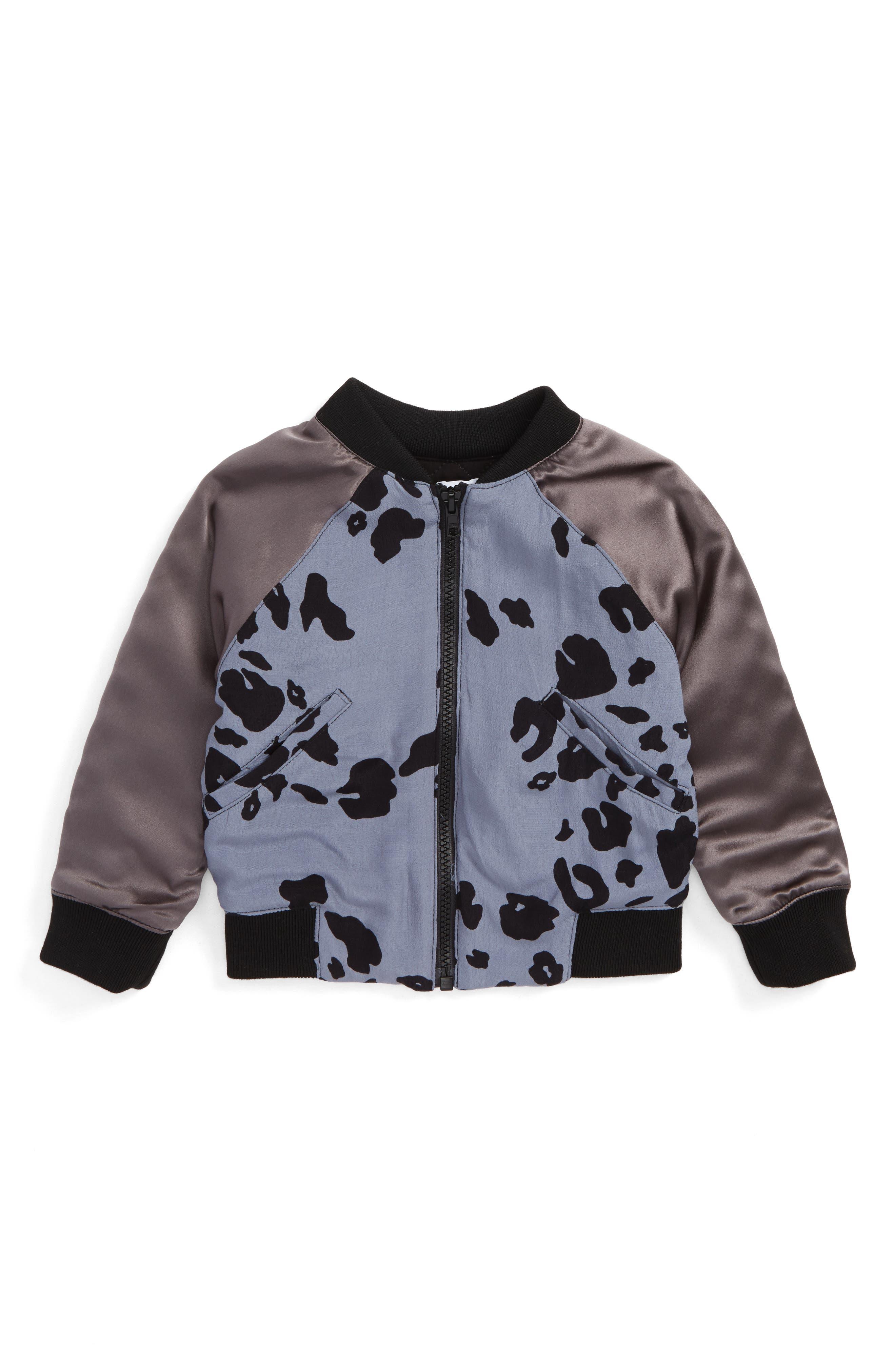 Tatum Bomber Jacket,                         Main,                         color, Cheetah W/ Black