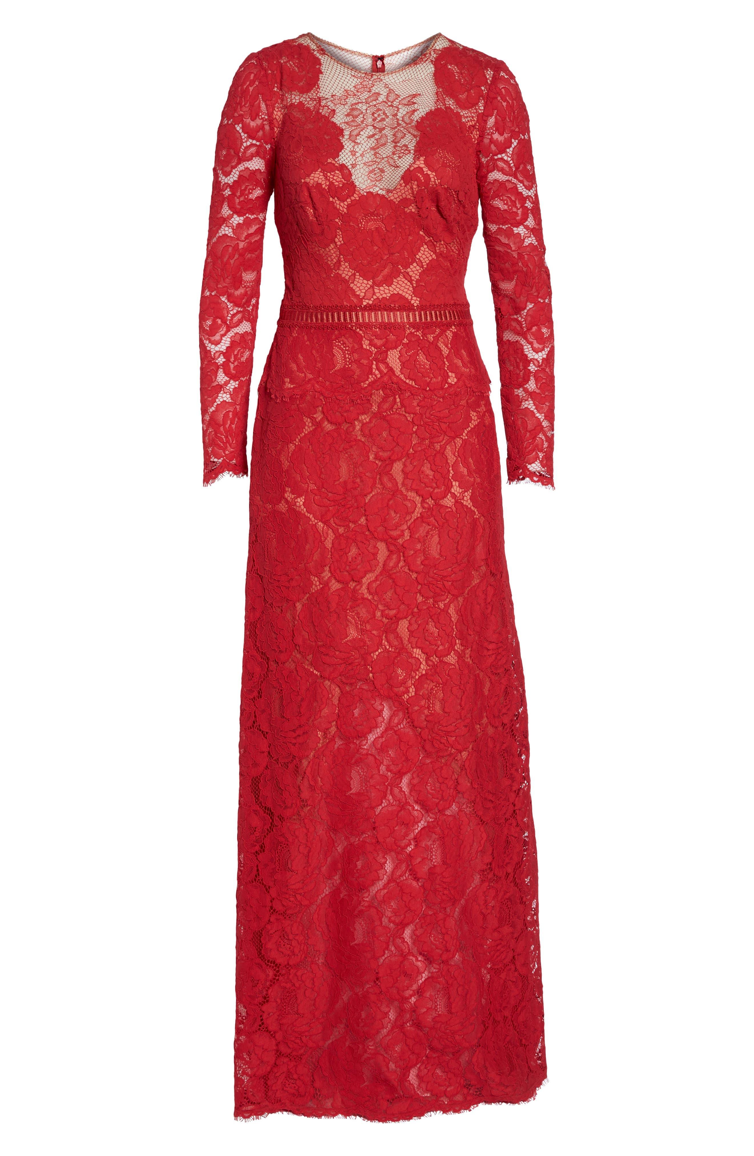 Alternate Image 6  - Tadashi Shoji Corded Lace Gown