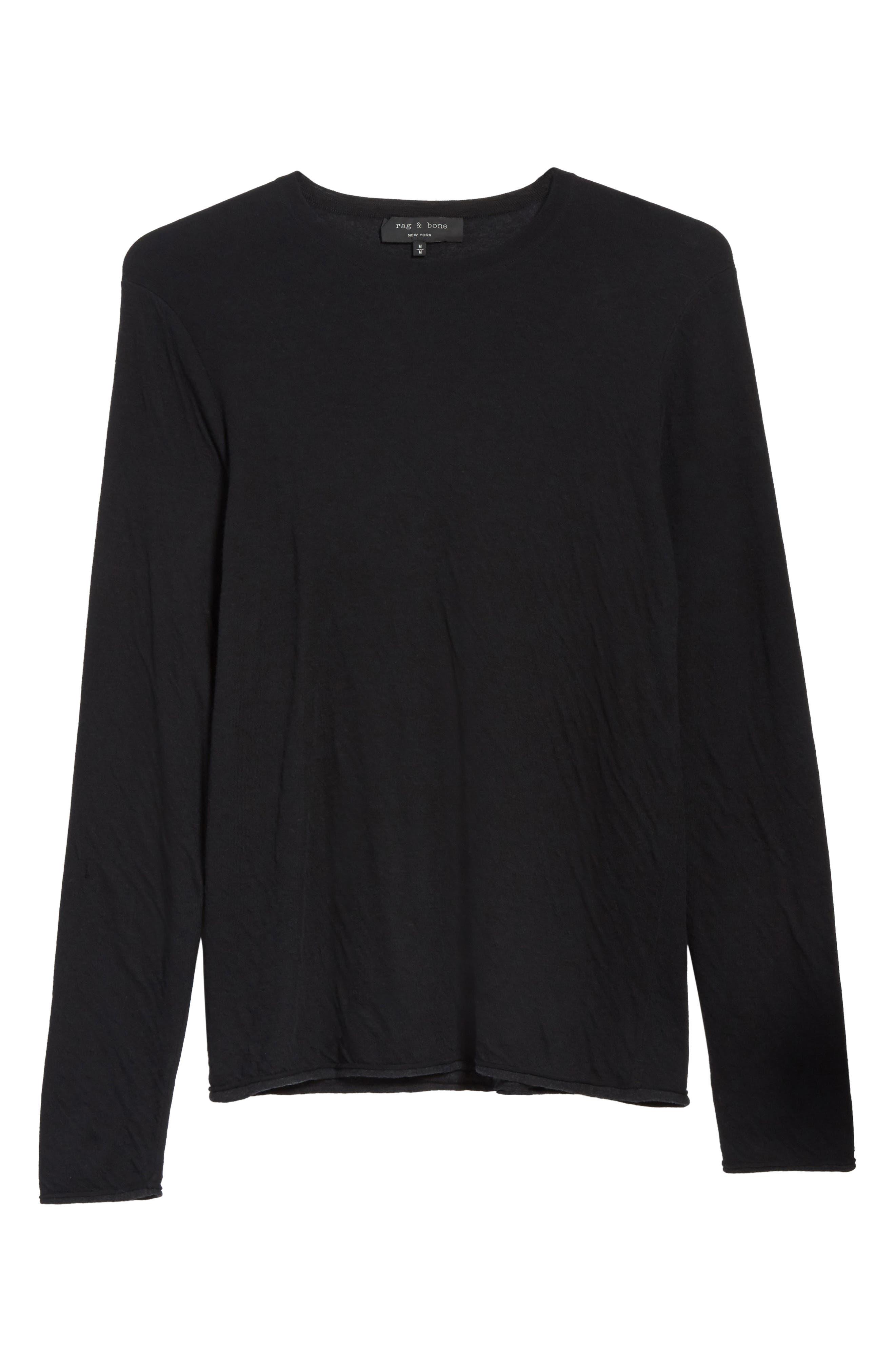 Tripp Crewneck Sweater,                             Alternate thumbnail 6, color,                             Black