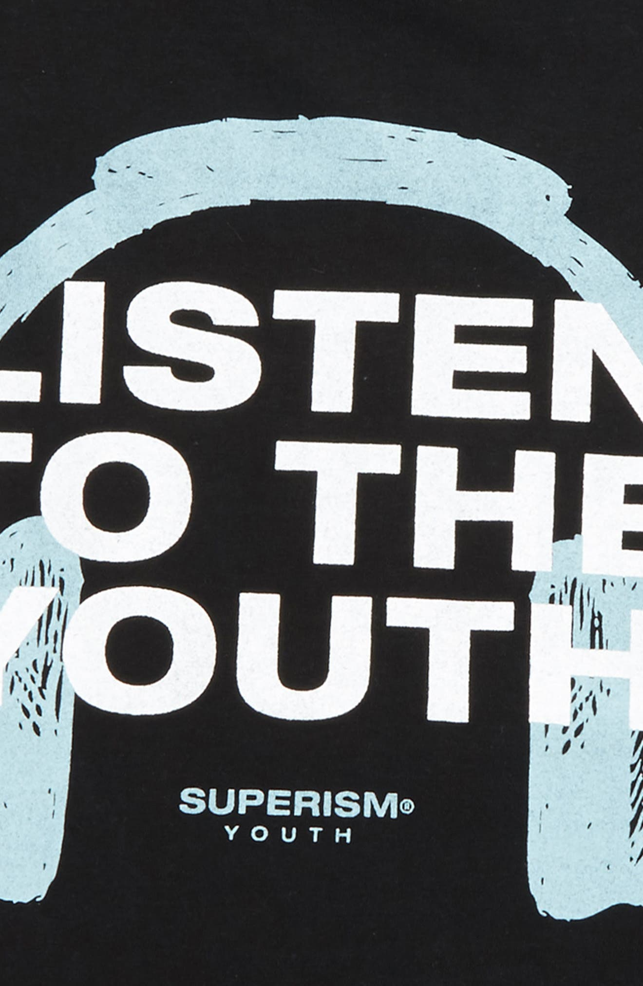 Alternate Image 2  - Superism Listen to the Youth T-Shirt (Big Boys)