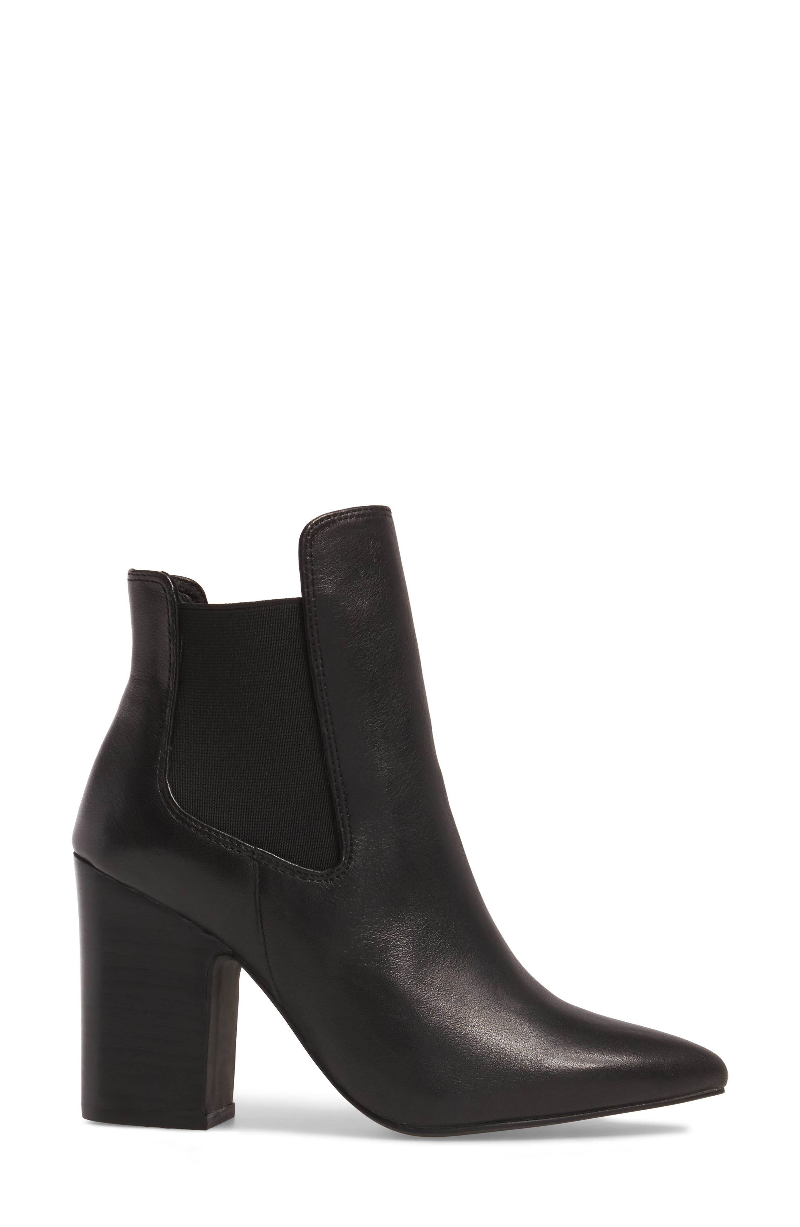 Starlight Bootie,                             Alternate thumbnail 3, color,                             Black Leather
