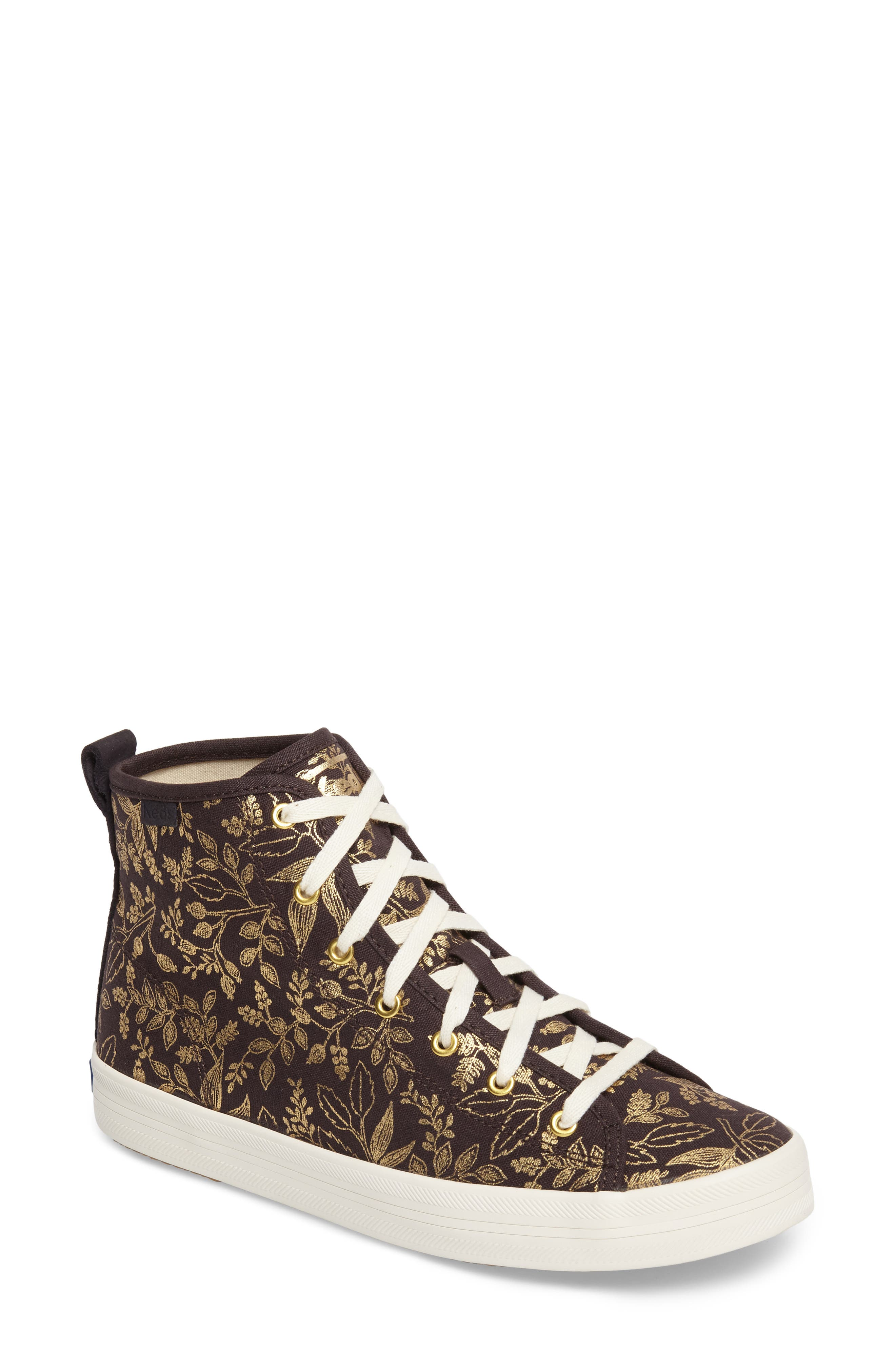 Alternate Image 1 Selected - Keds® x Rifle Paper Co. Queen Anne High Top Sneaker (Women)
