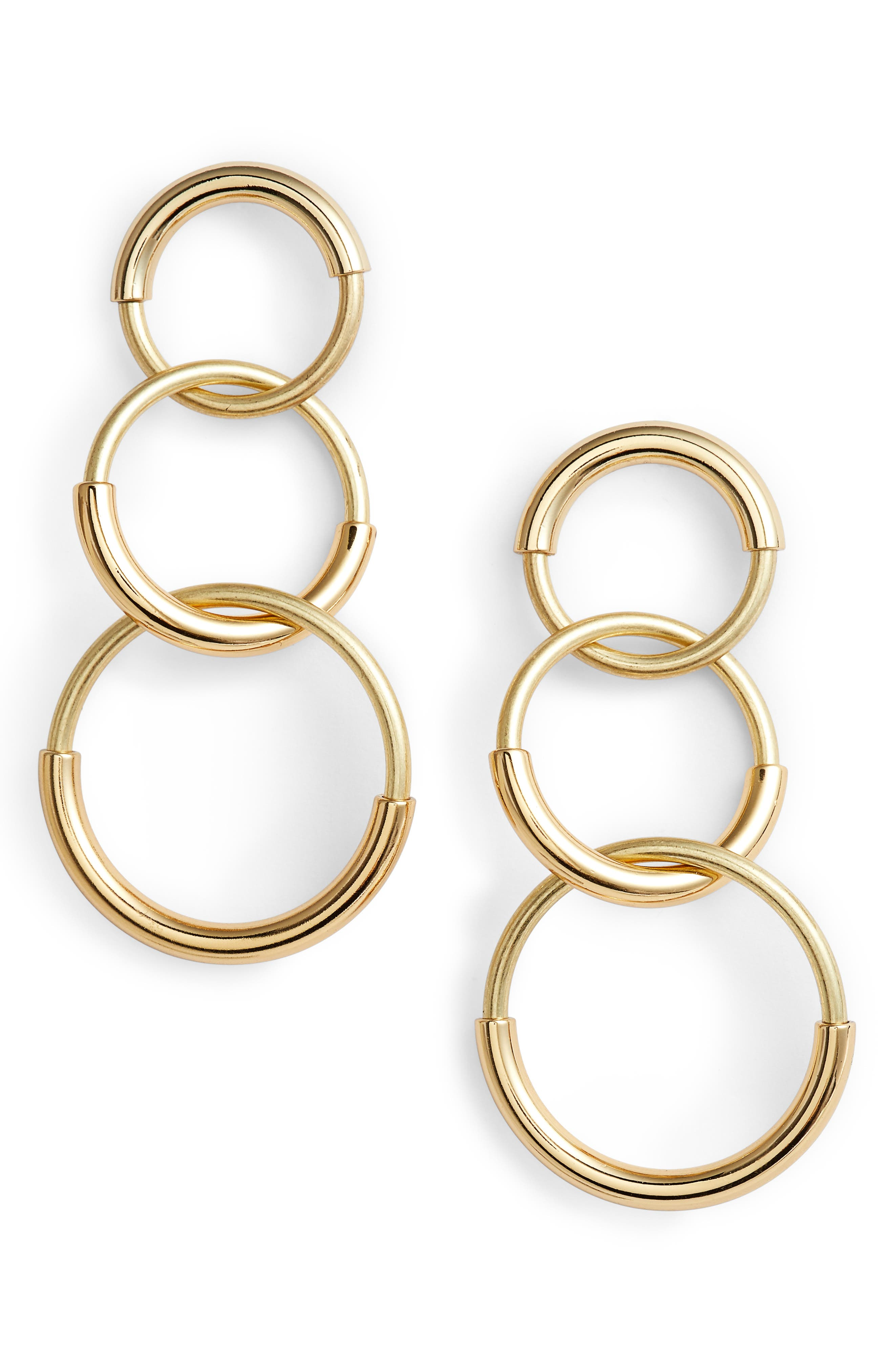 Ossie Drop Earrings,                         Main,                         color, Gold