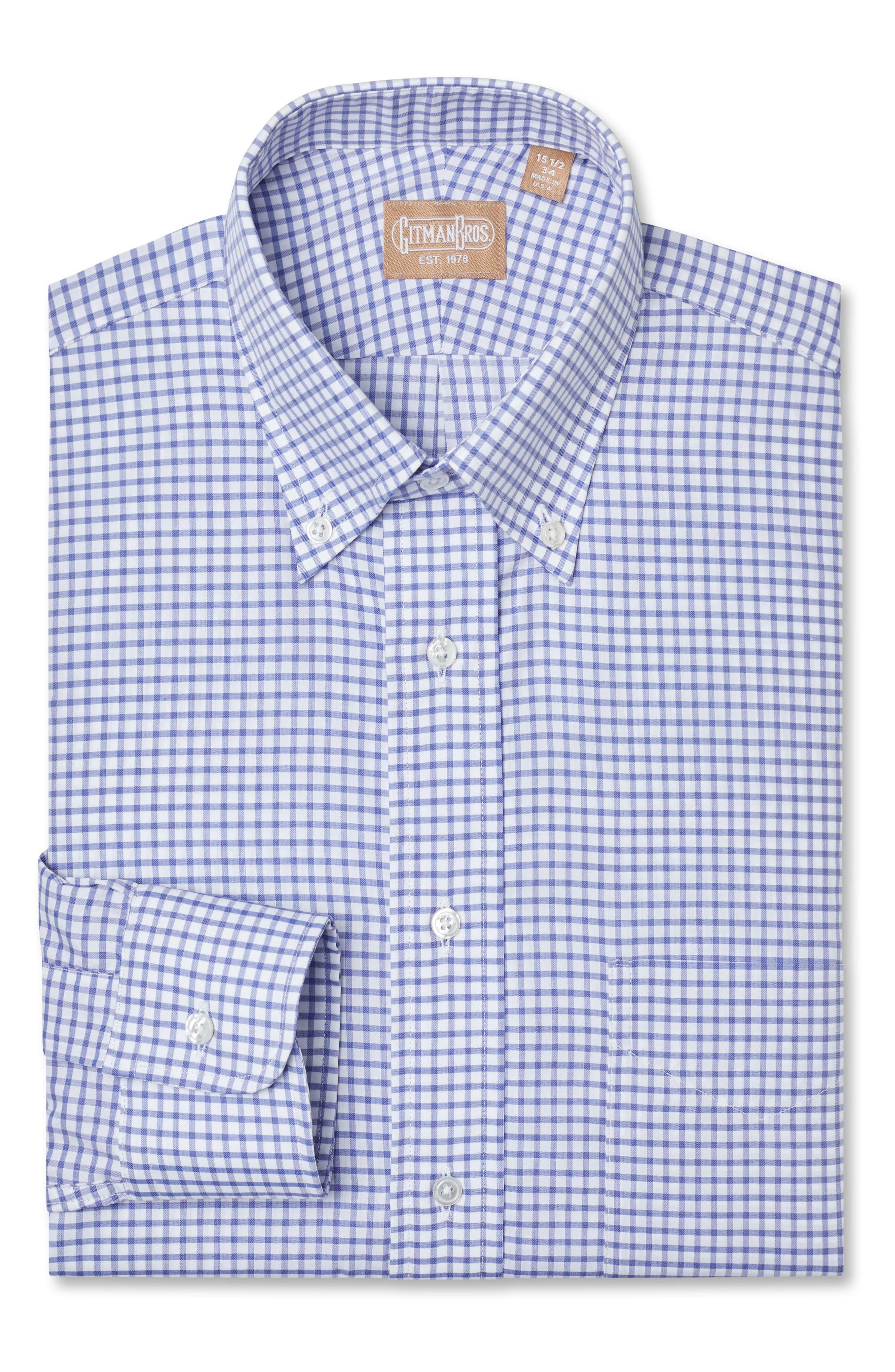 Gitman Albini Elite Regular Fit Check Dress Shirt