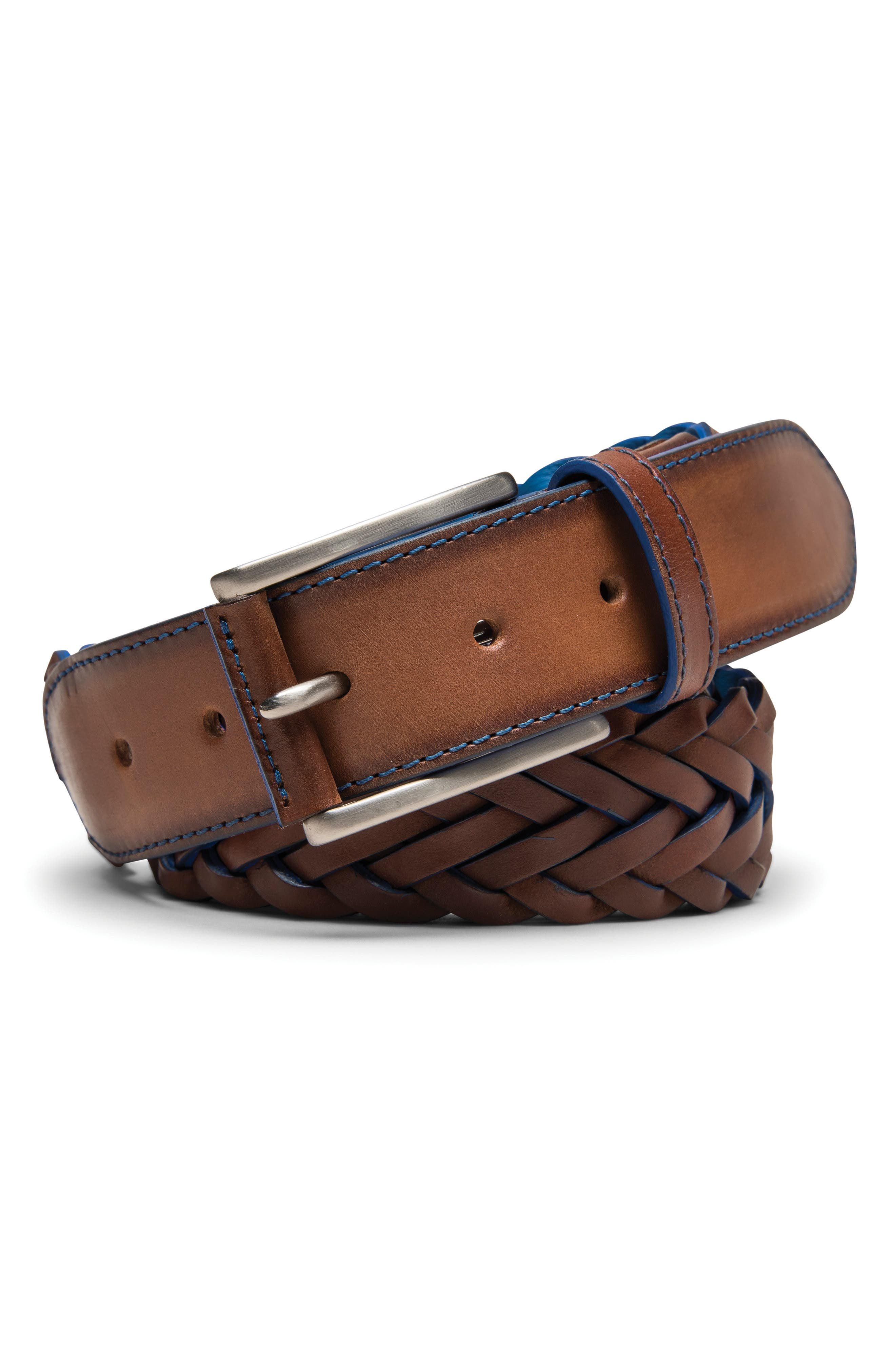 Peter Millar Braided Leather Belt