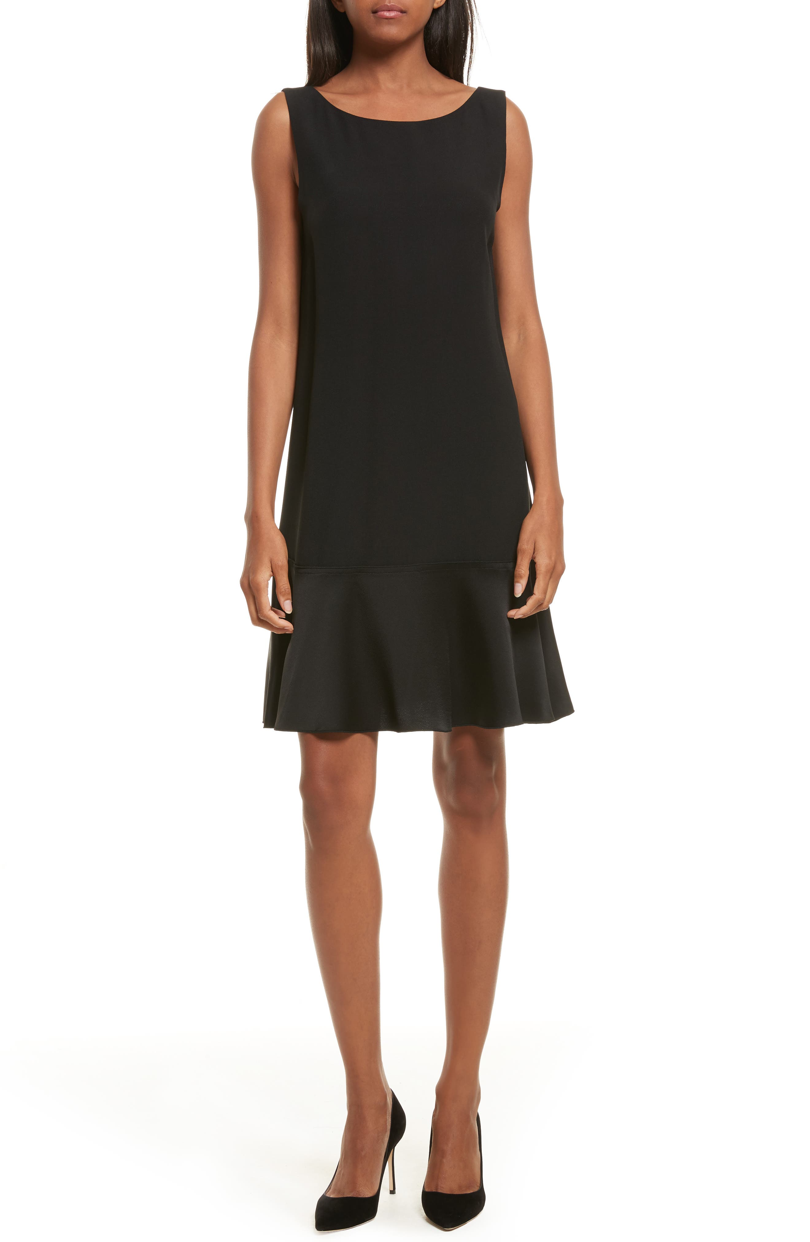 Kensington Flirty Flare Dress,                             Main thumbnail 1, color,                             Black
