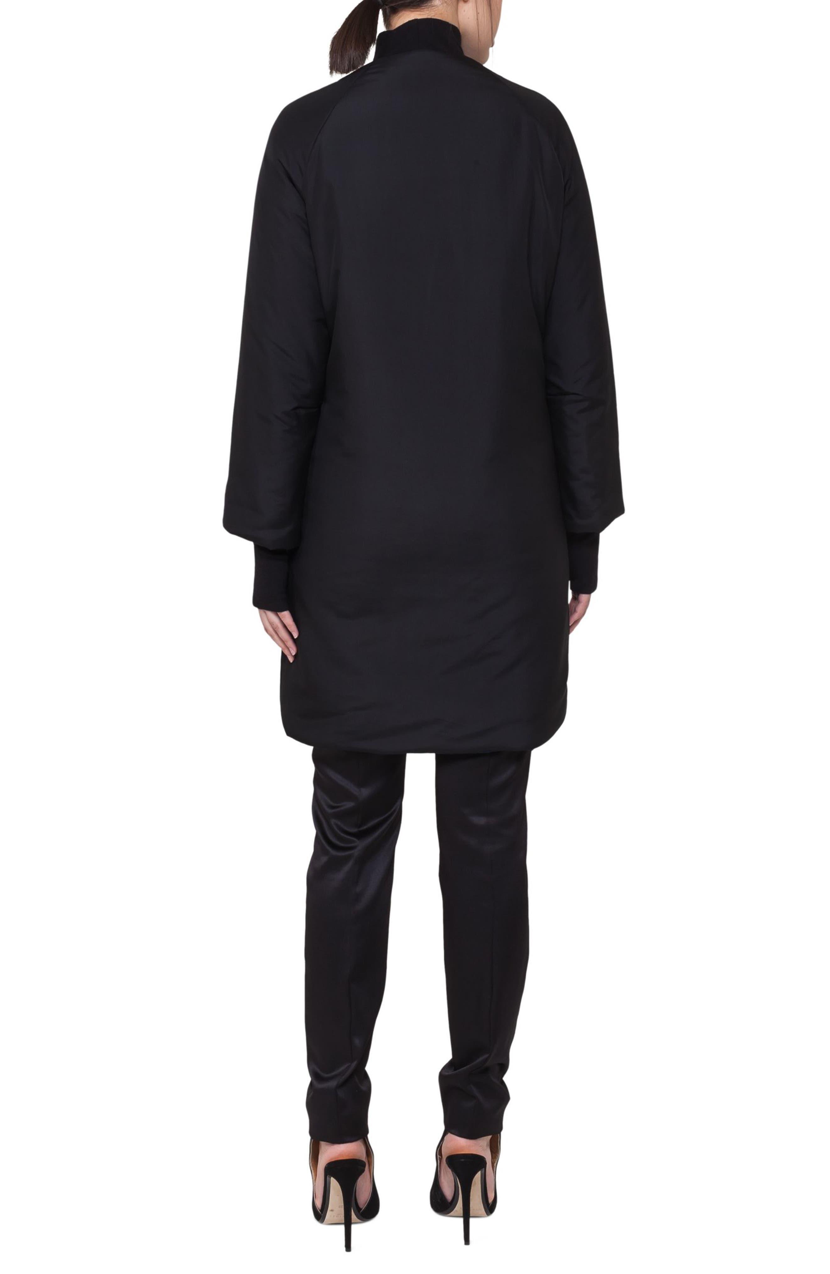 Reversible Techno Puffer Coat,                             Alternate thumbnail 3, color,                             Black-Denim