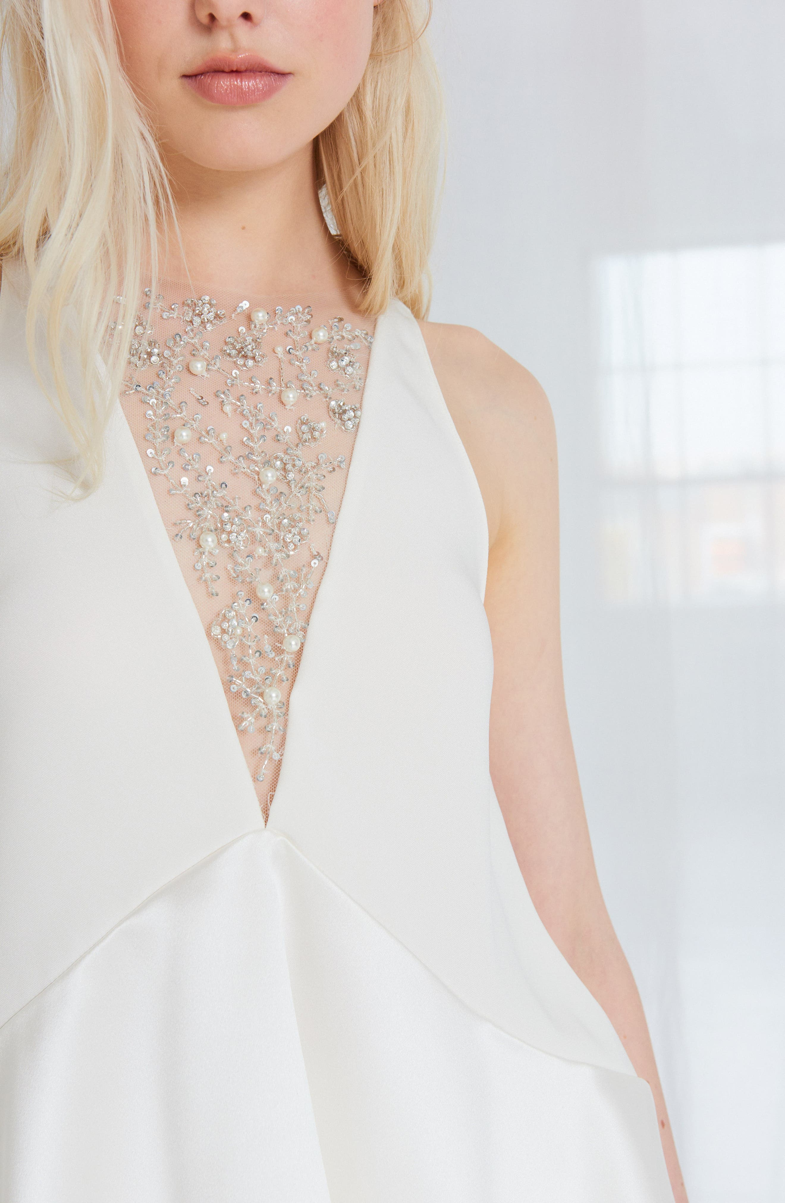 Alternate Image 3  - Amsale Sia Satin Two-Piece Gown