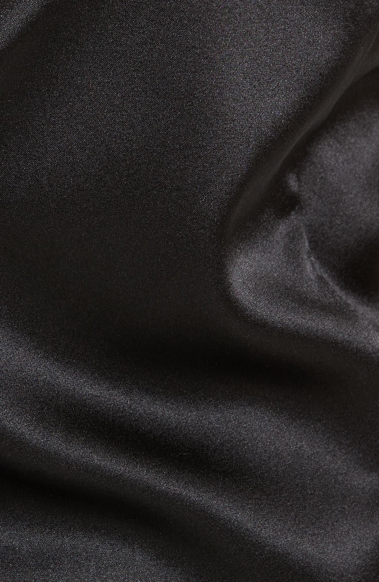 Ertil Stretch Satin Halter Top,                             Alternate thumbnail 5, color,                             Black