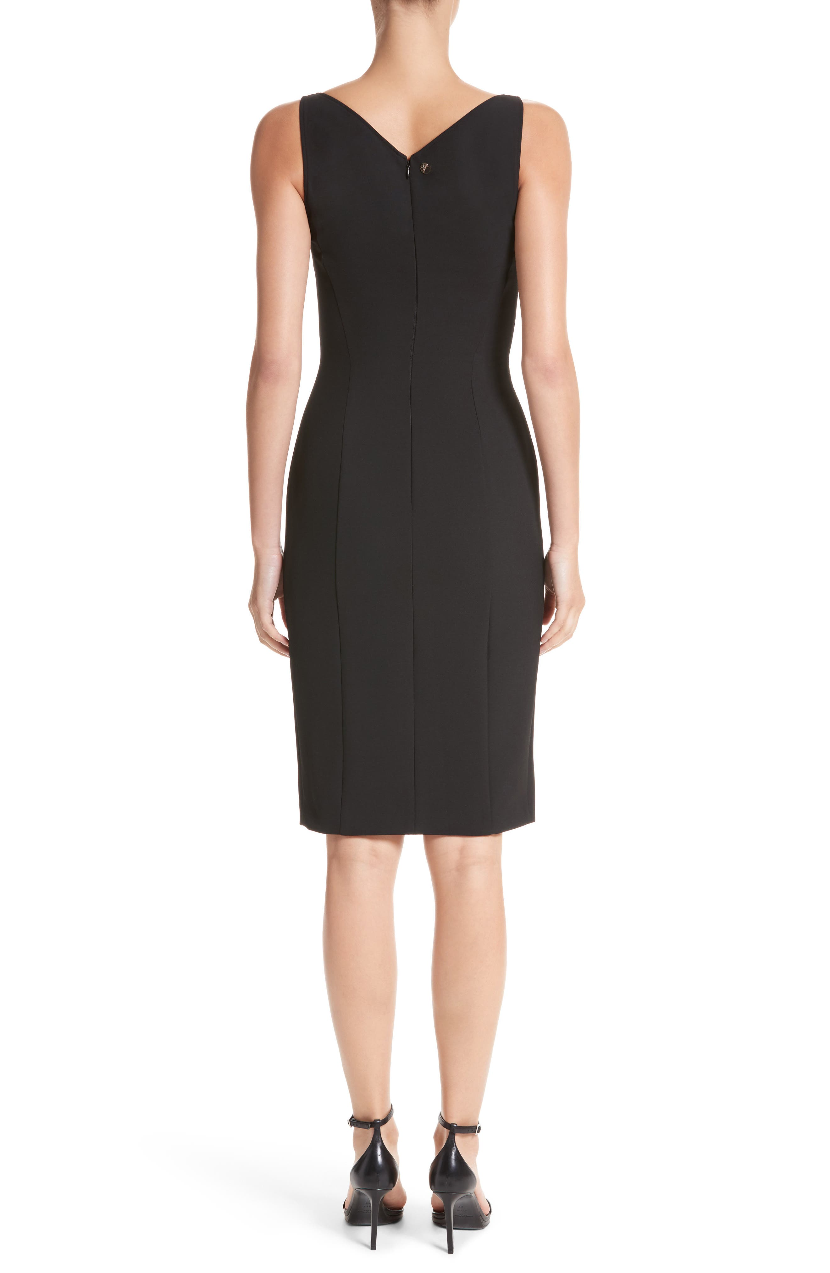 Alternate Image 2  - Versace Collection Lace Inset Sheath Dress