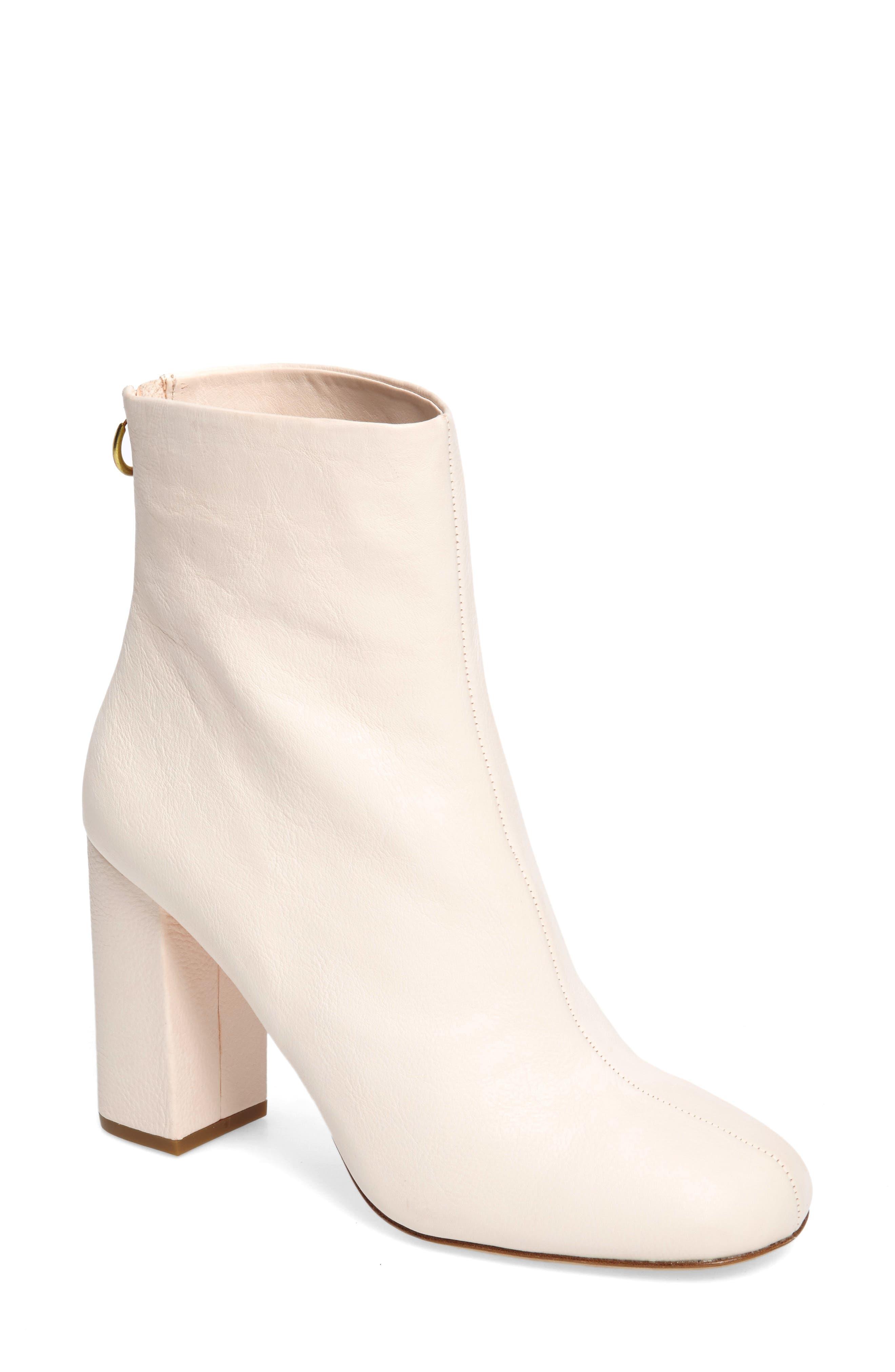 Saleema Block Heel Bootie,                         Main,                         color, Shell