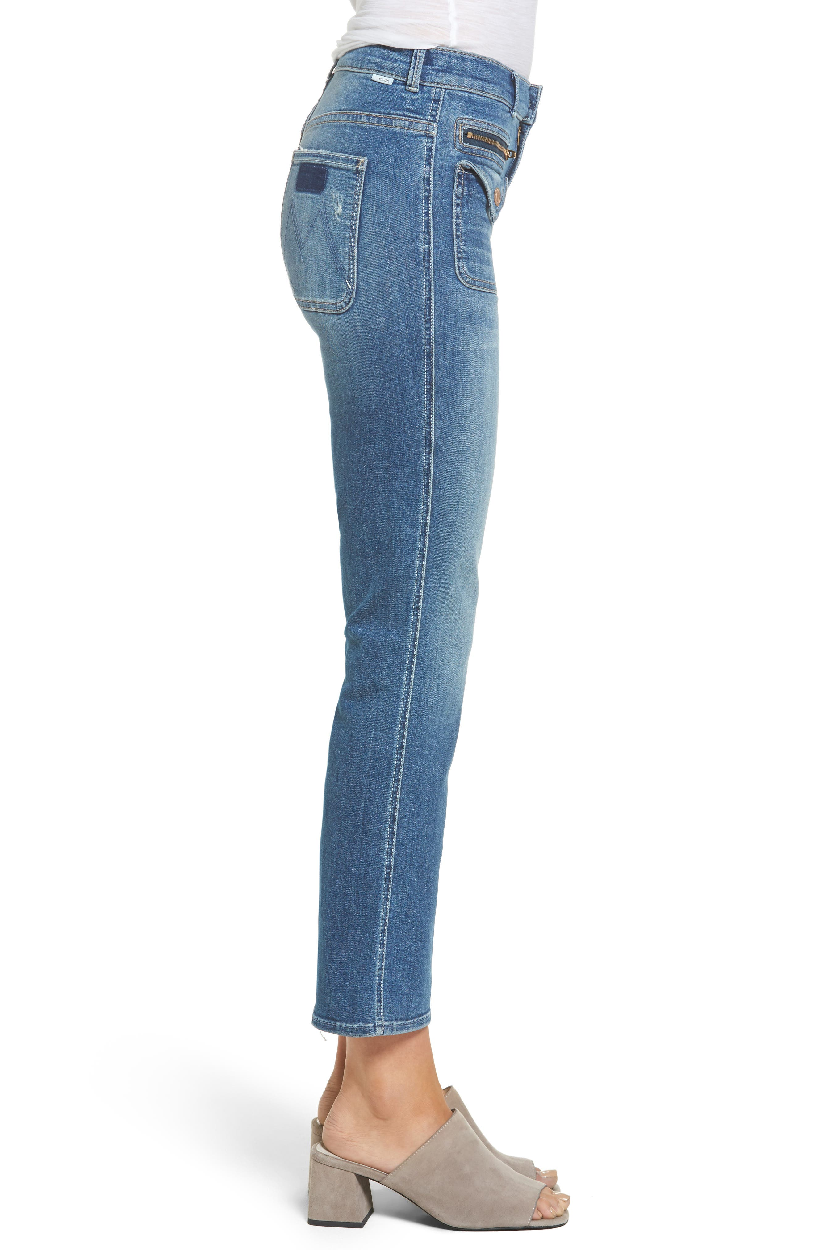 Alternate Image 3  - MOTHER The Insider High Waist Crop Bootcut Jeans (Racing Heart)