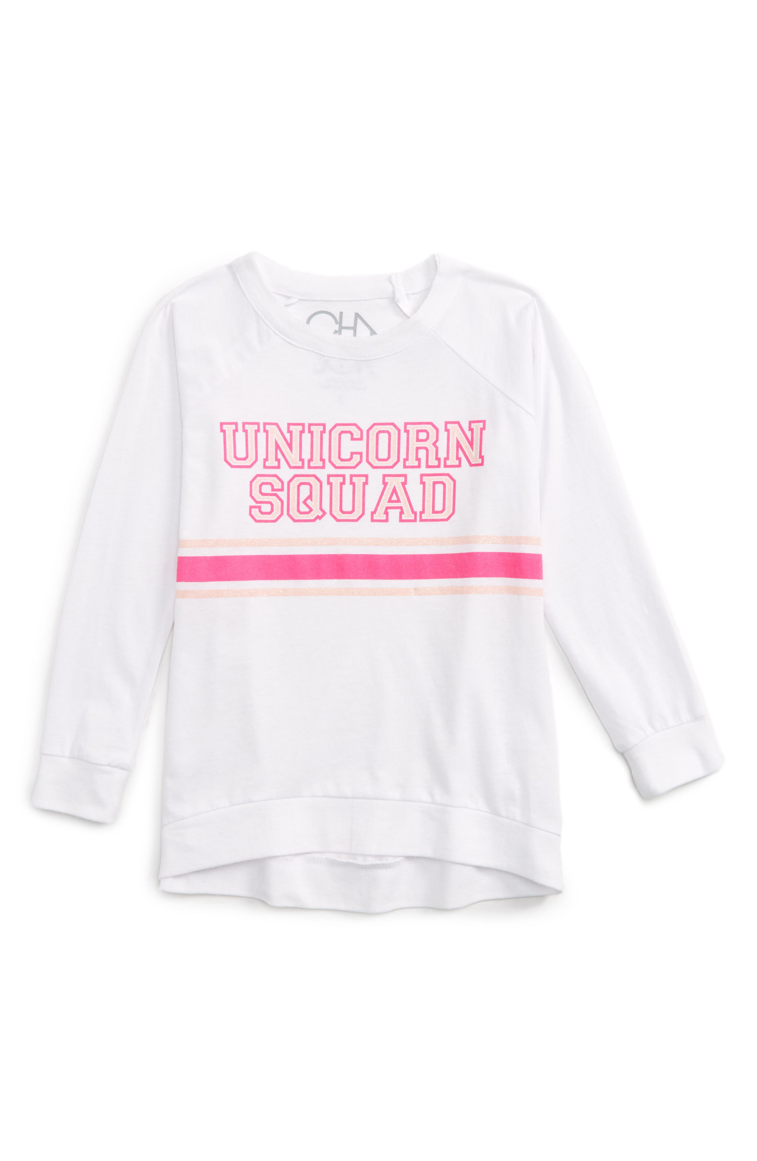 Main Image - Chaser Unicorn Squad Graphic Tee (Toddler Girls & Little Girls)