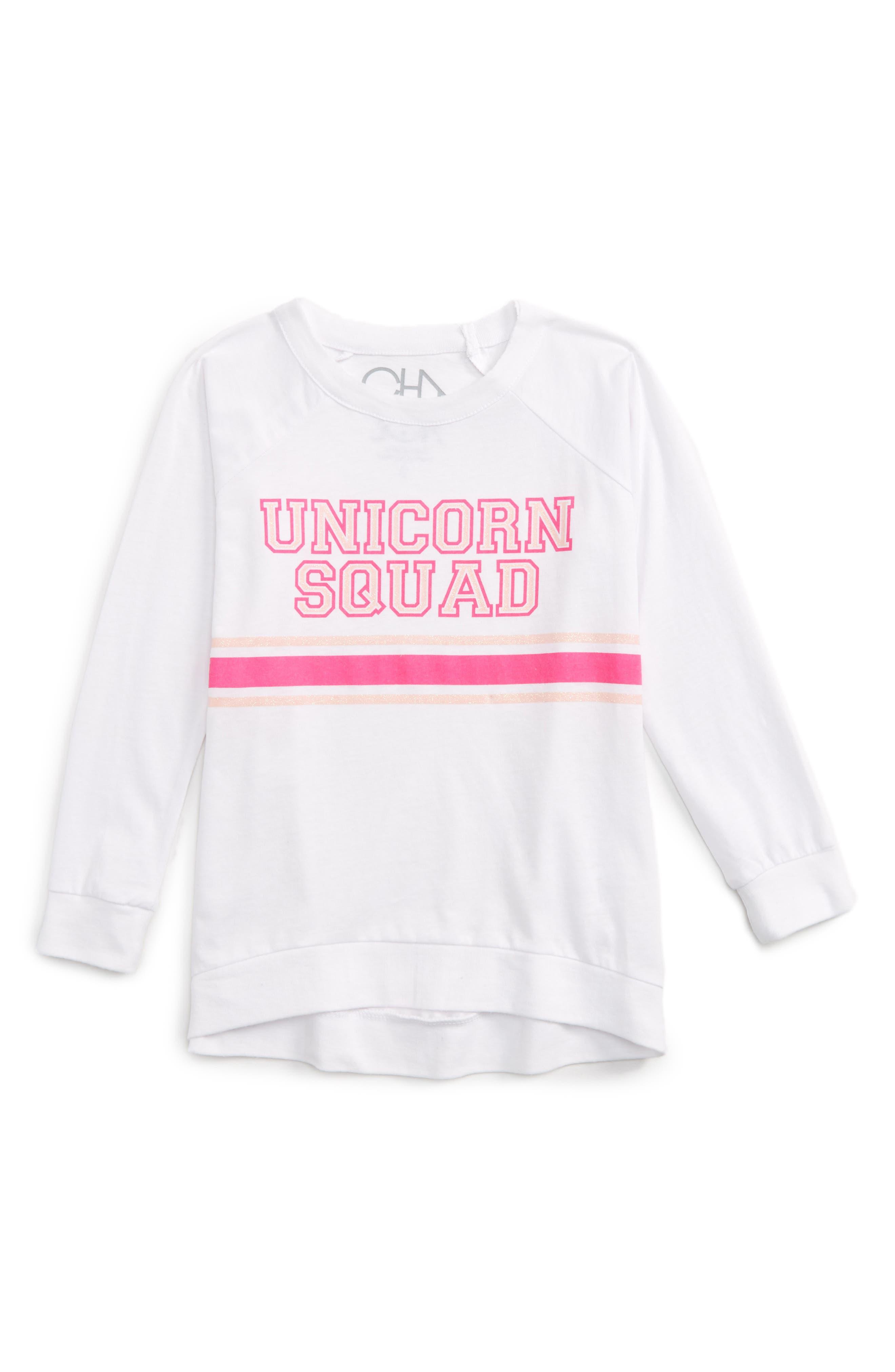 Chaser Unicorn Squad Graphic Tee (Toddler Girls & Little Girls)