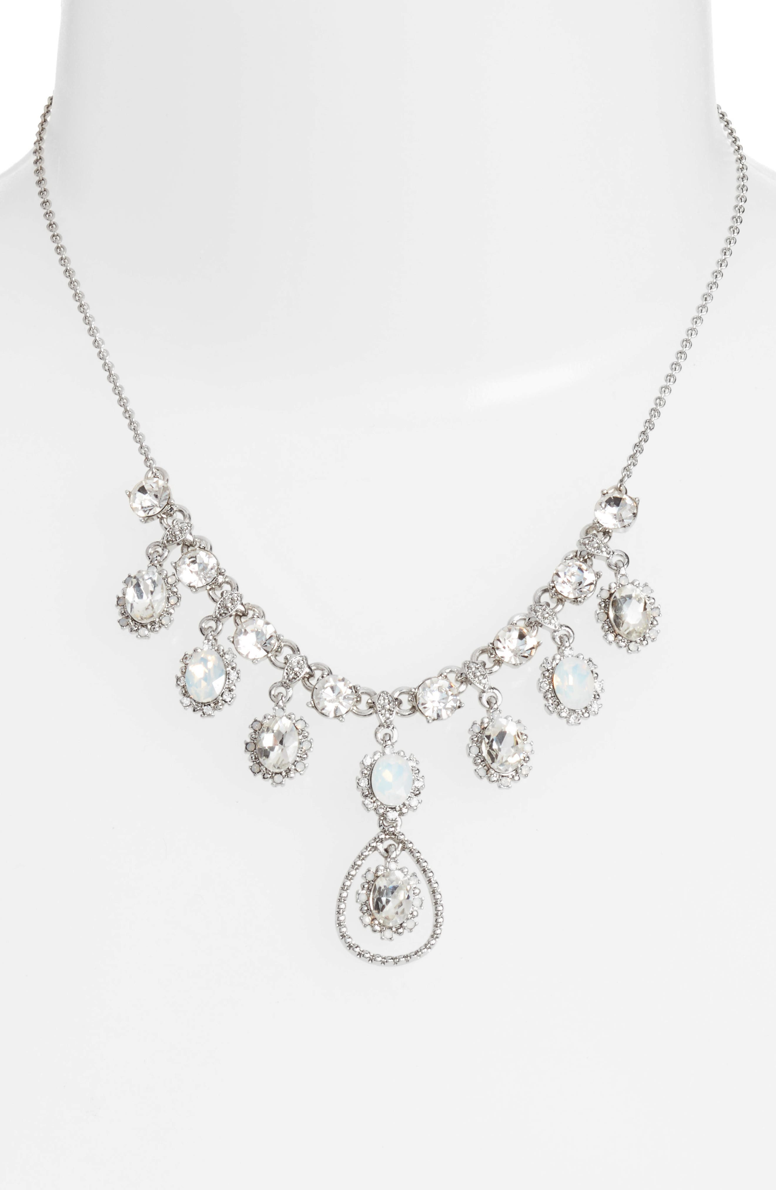 Alternate Image 2  - Marchesa Crystal Frontal Necklace