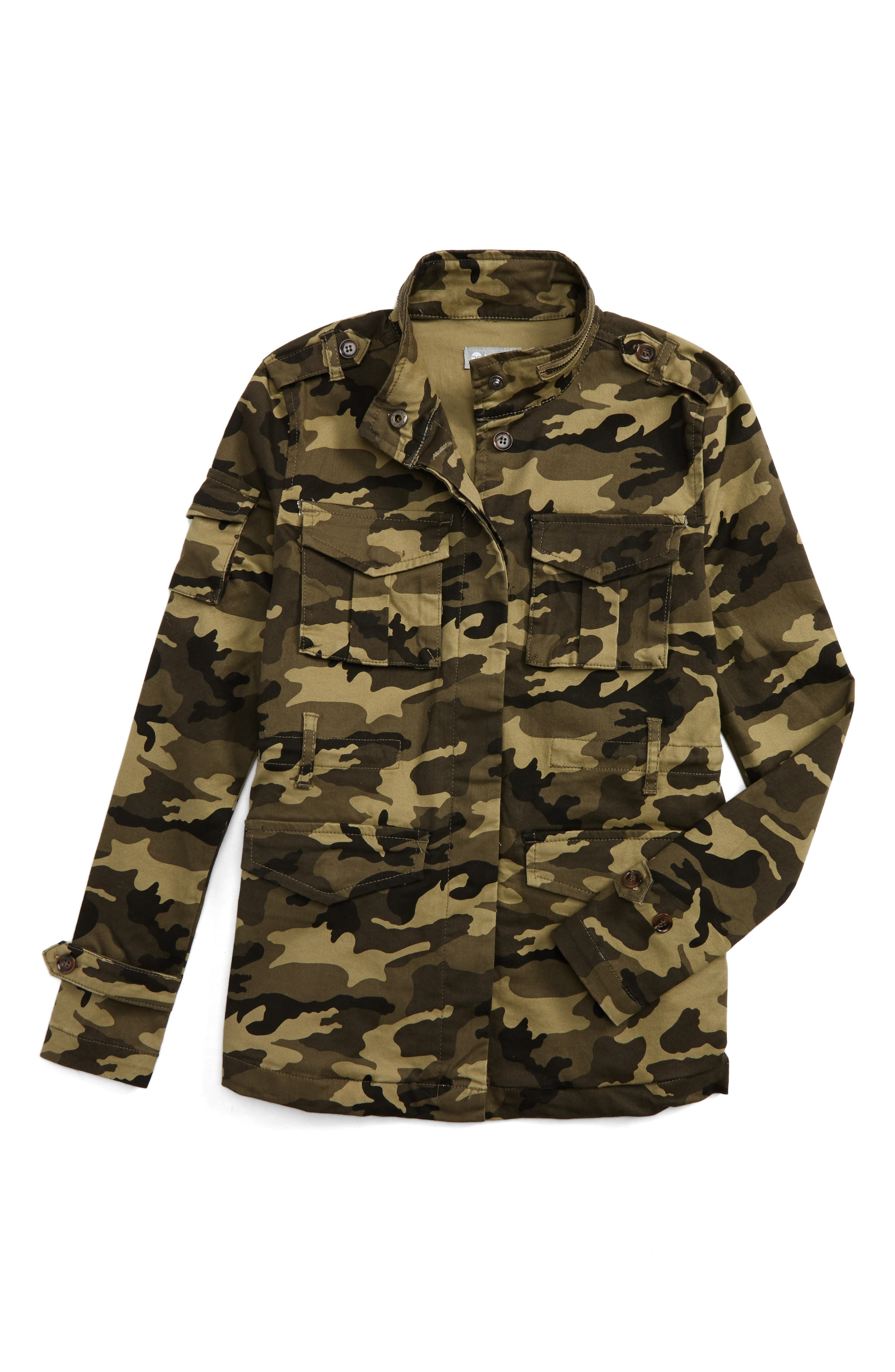 Tractr Camo Anorak Jacket (Big Girls)